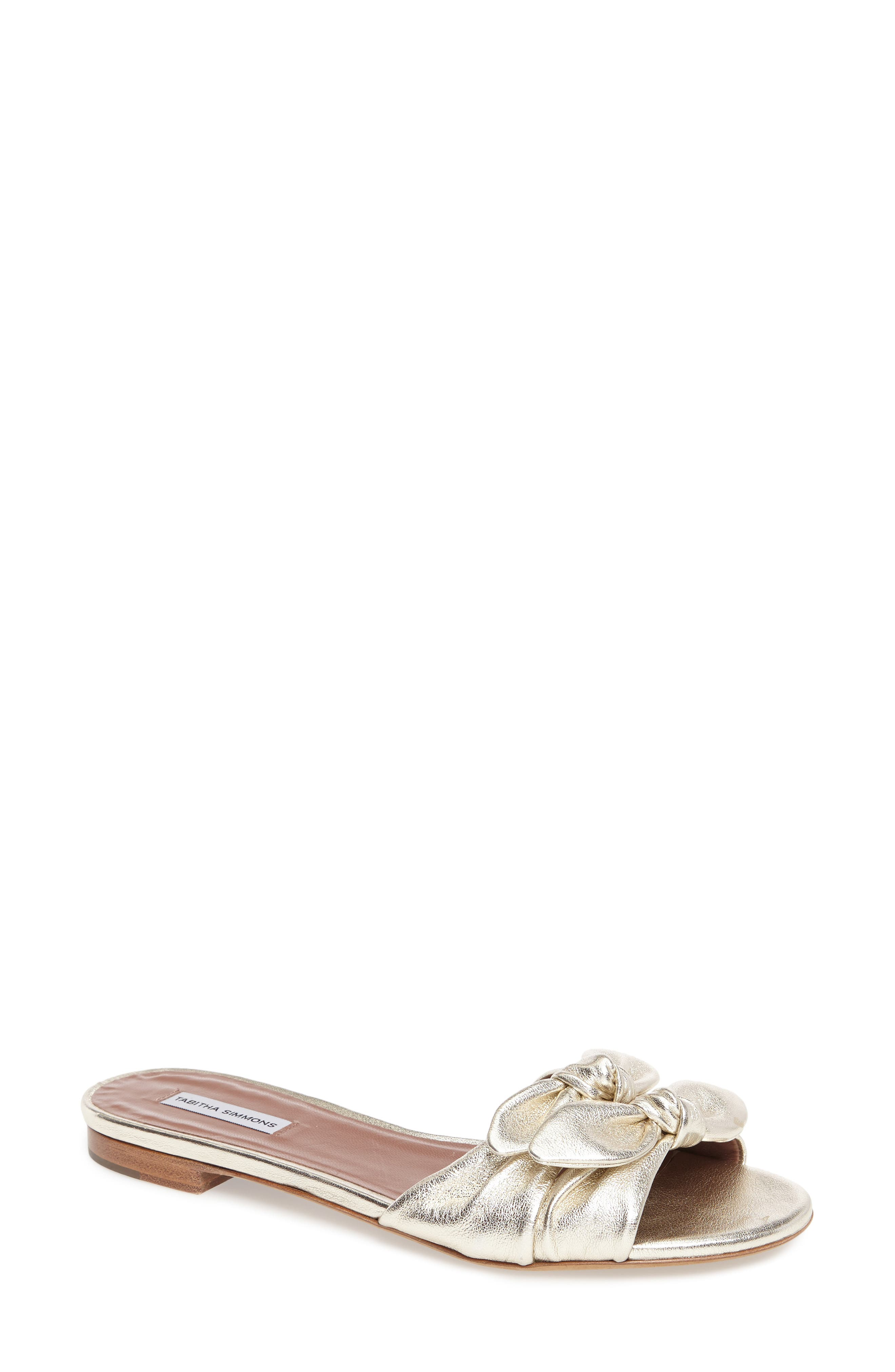 Cleo Knotted Bow Slide Sandal,                             Main thumbnail 1, color,                             040