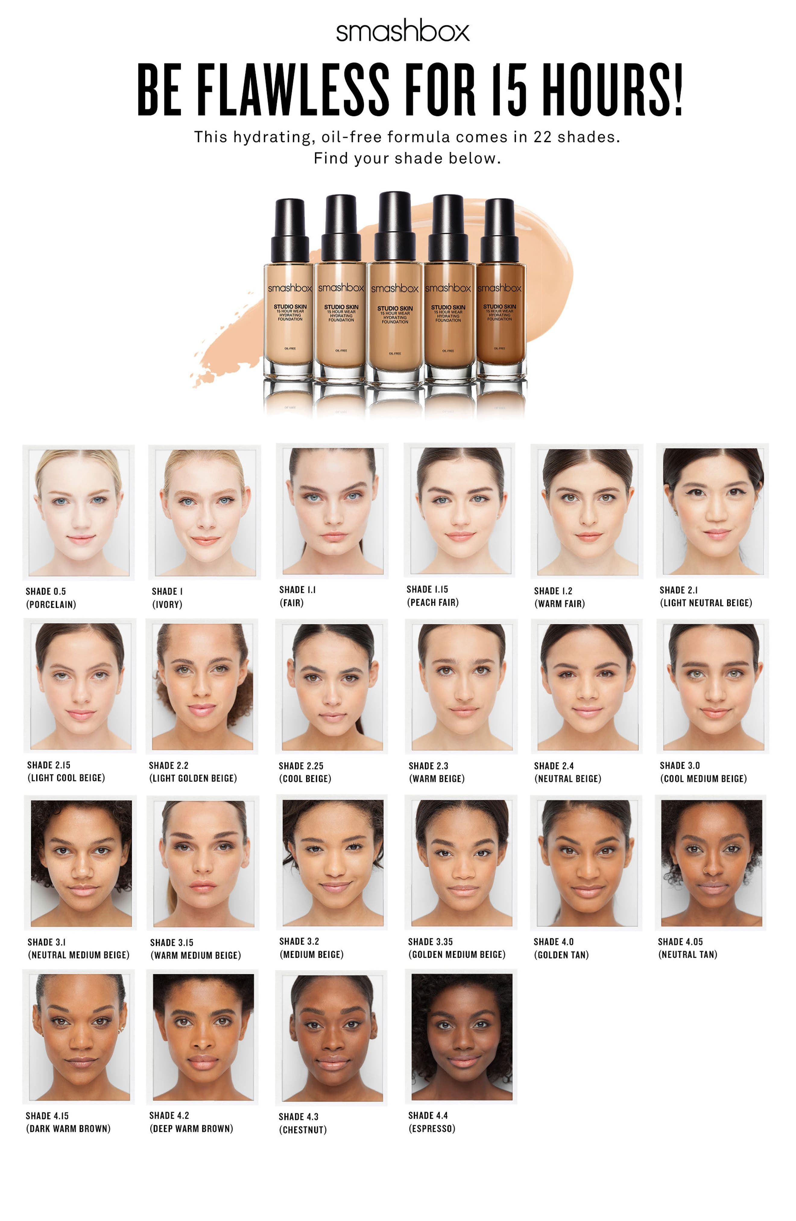 Studio Skin 15 Hour Wear Hydrating Foundation,                             Alternate thumbnail 3, color,                             10 - WARM LIGHT