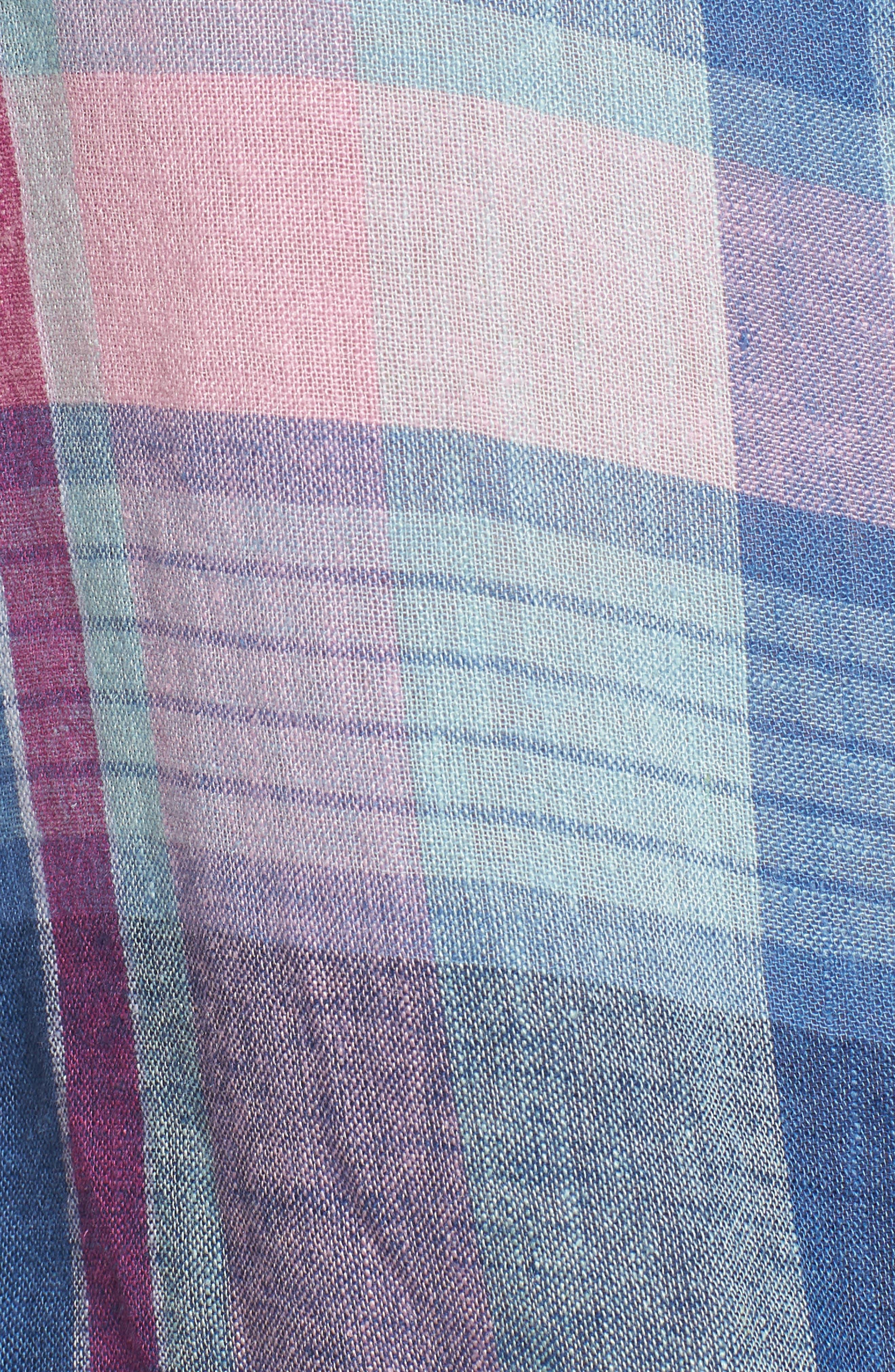 Amelie Tie Front Shirt,                             Alternate thumbnail 6, color,                             LAGUNA COAST AZALEA