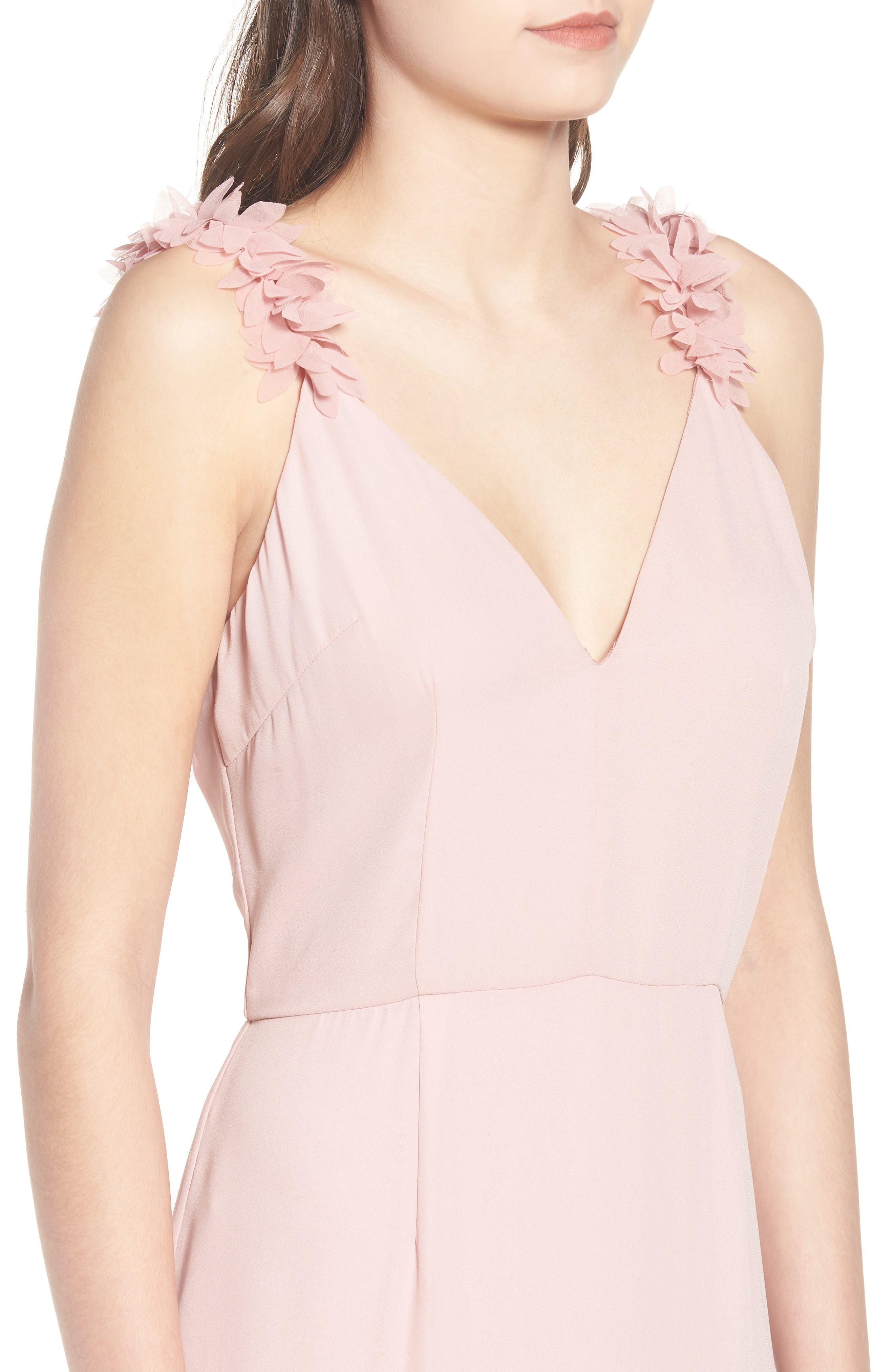 Ruffled Asymmetrical Maxi Dress,                             Alternate thumbnail 4, color,