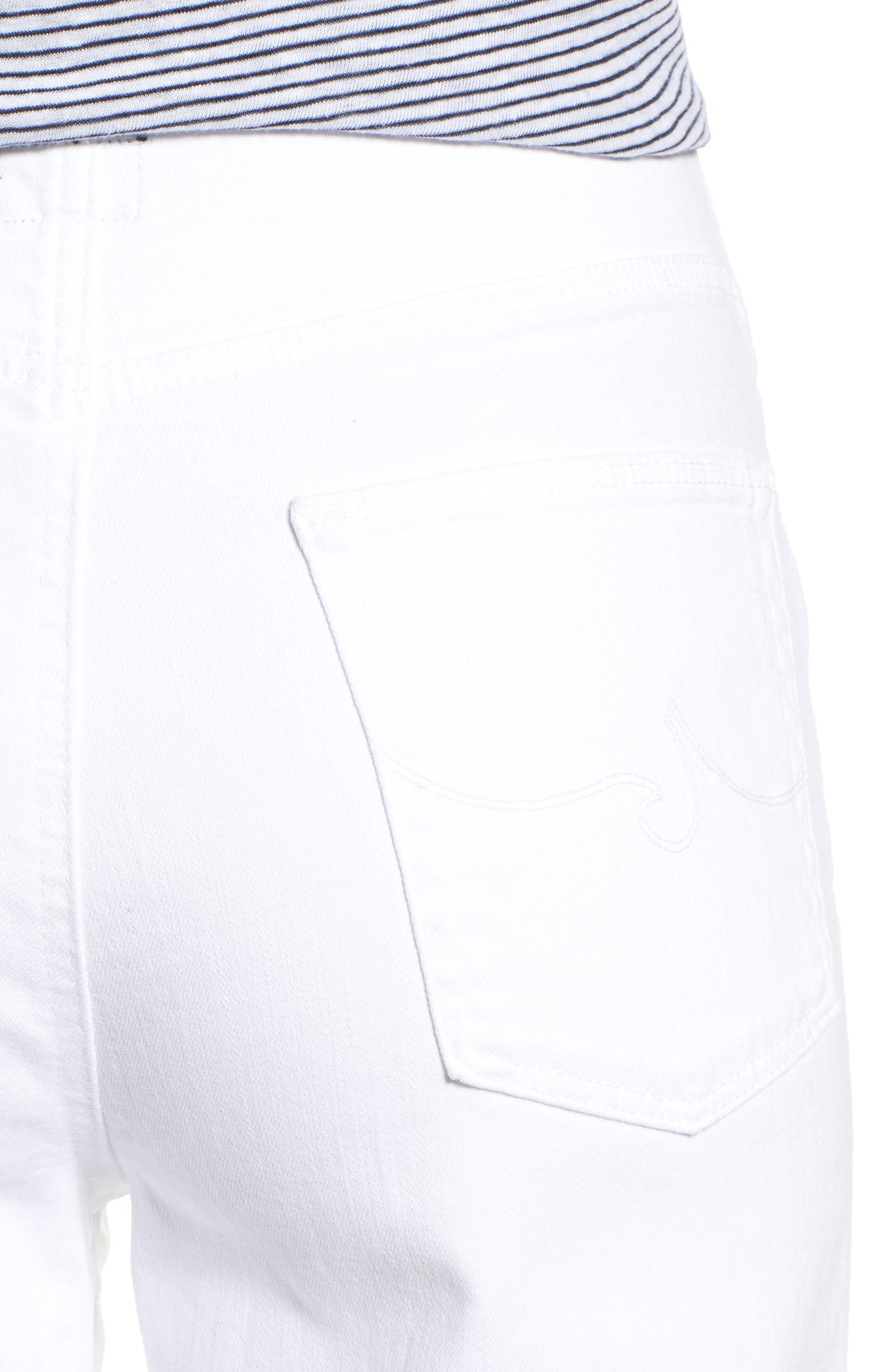 Etta High Waist Crop Wide Leg Jeans,                             Alternate thumbnail 4, color,                             110