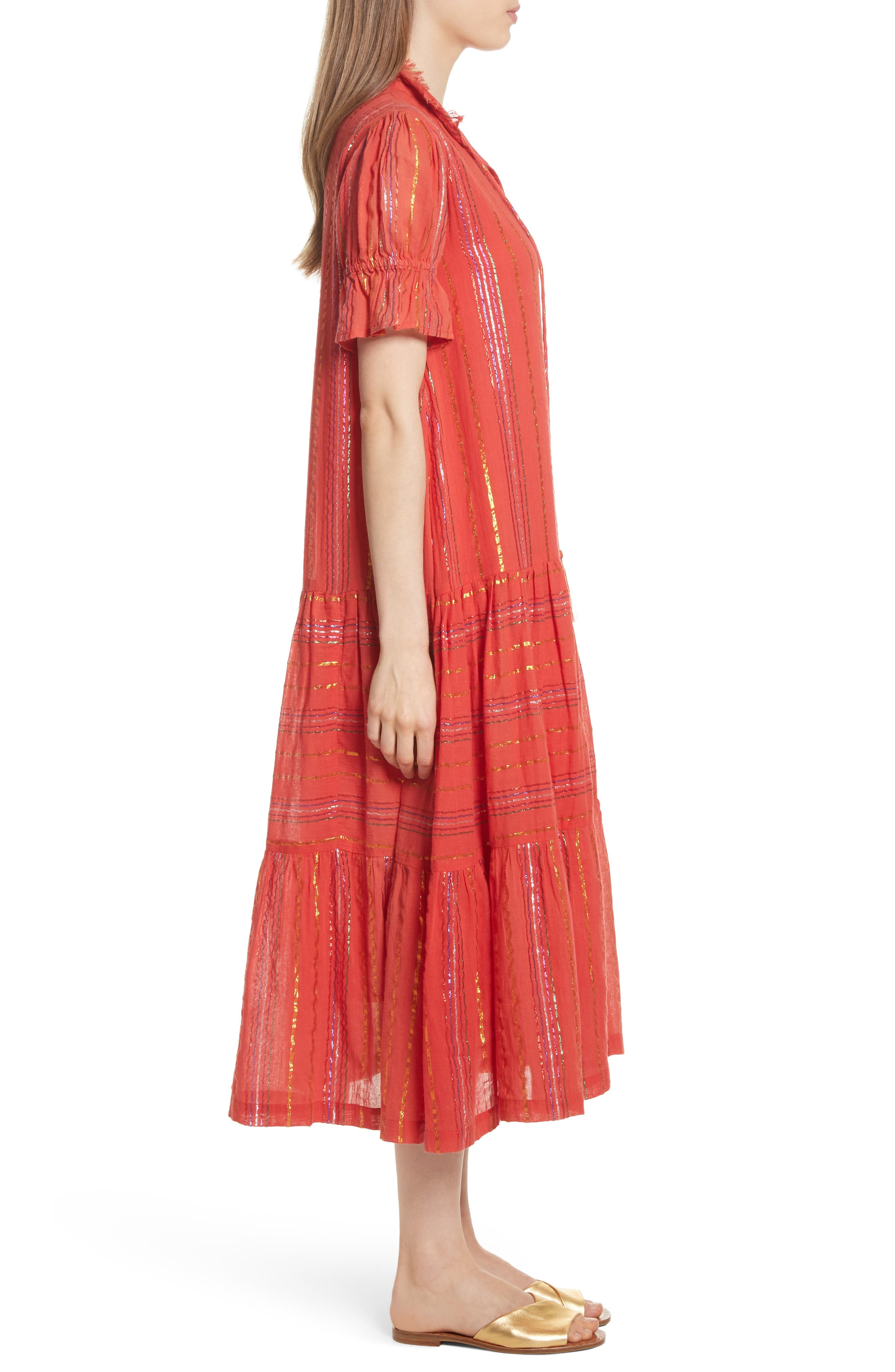 Los Altos Midi Dress,                             Alternate thumbnail 3, color,