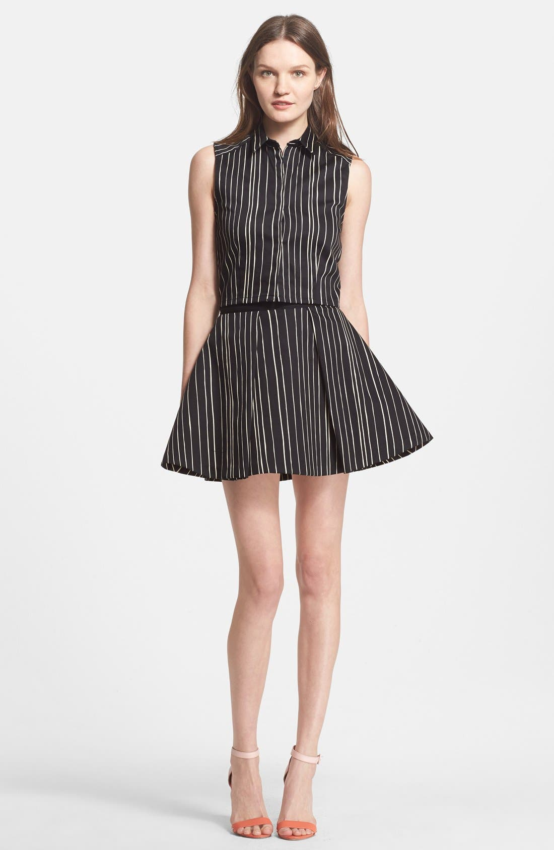 'Libby' Stripe Flared Skirt,                             Alternate thumbnail 2, color,