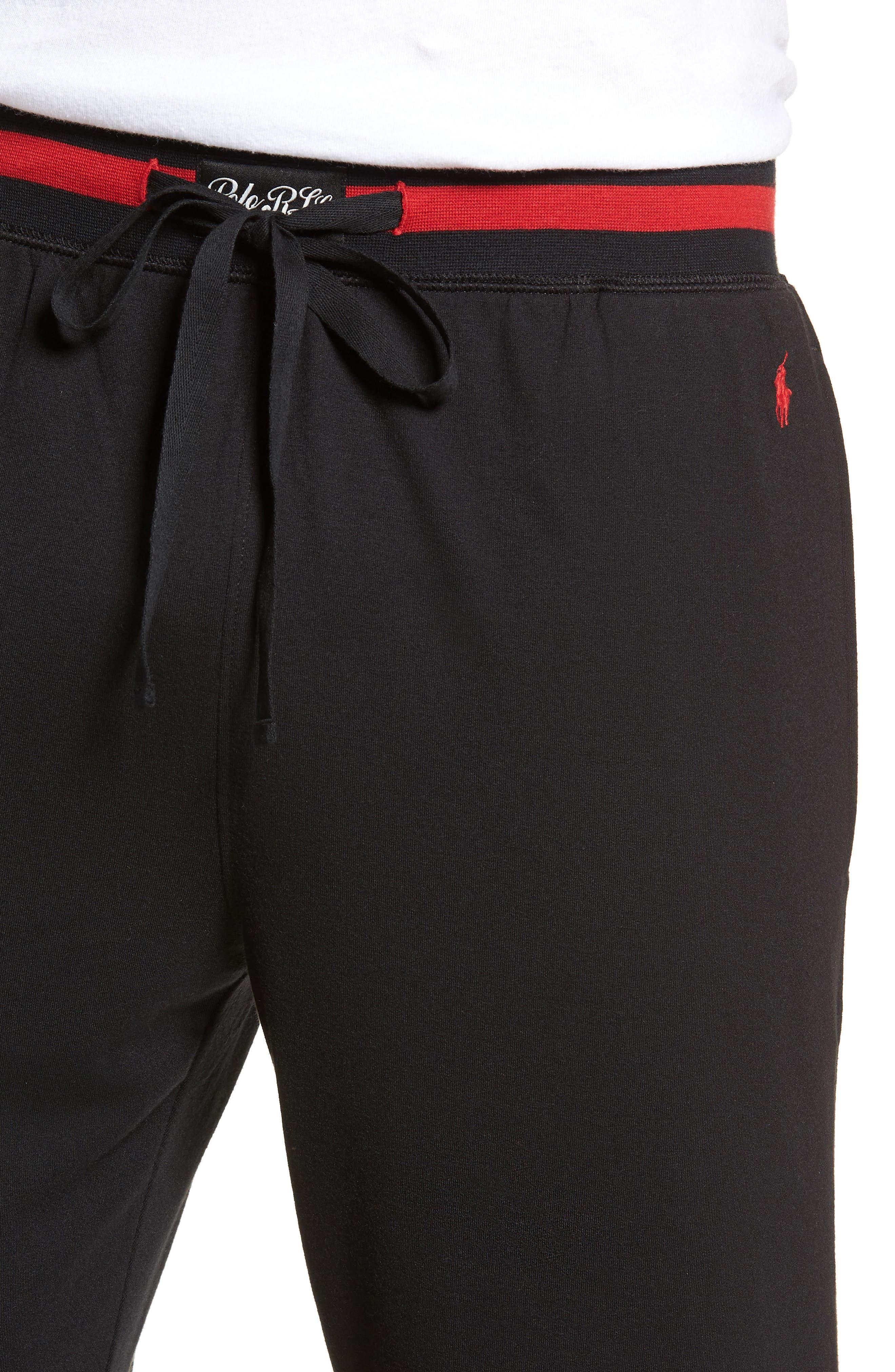 Jogger Pants,                             Alternate thumbnail 4, color,                             POLO BLACK