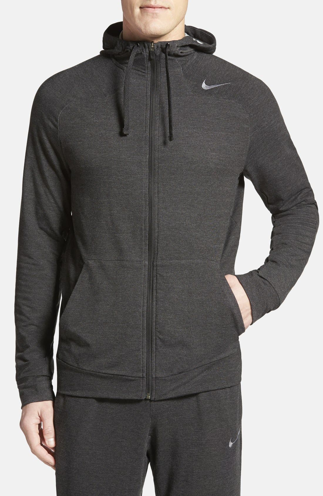 NIKE Dri-FIT Touch Fleece Full Zip Hoodie, Main, color, 010