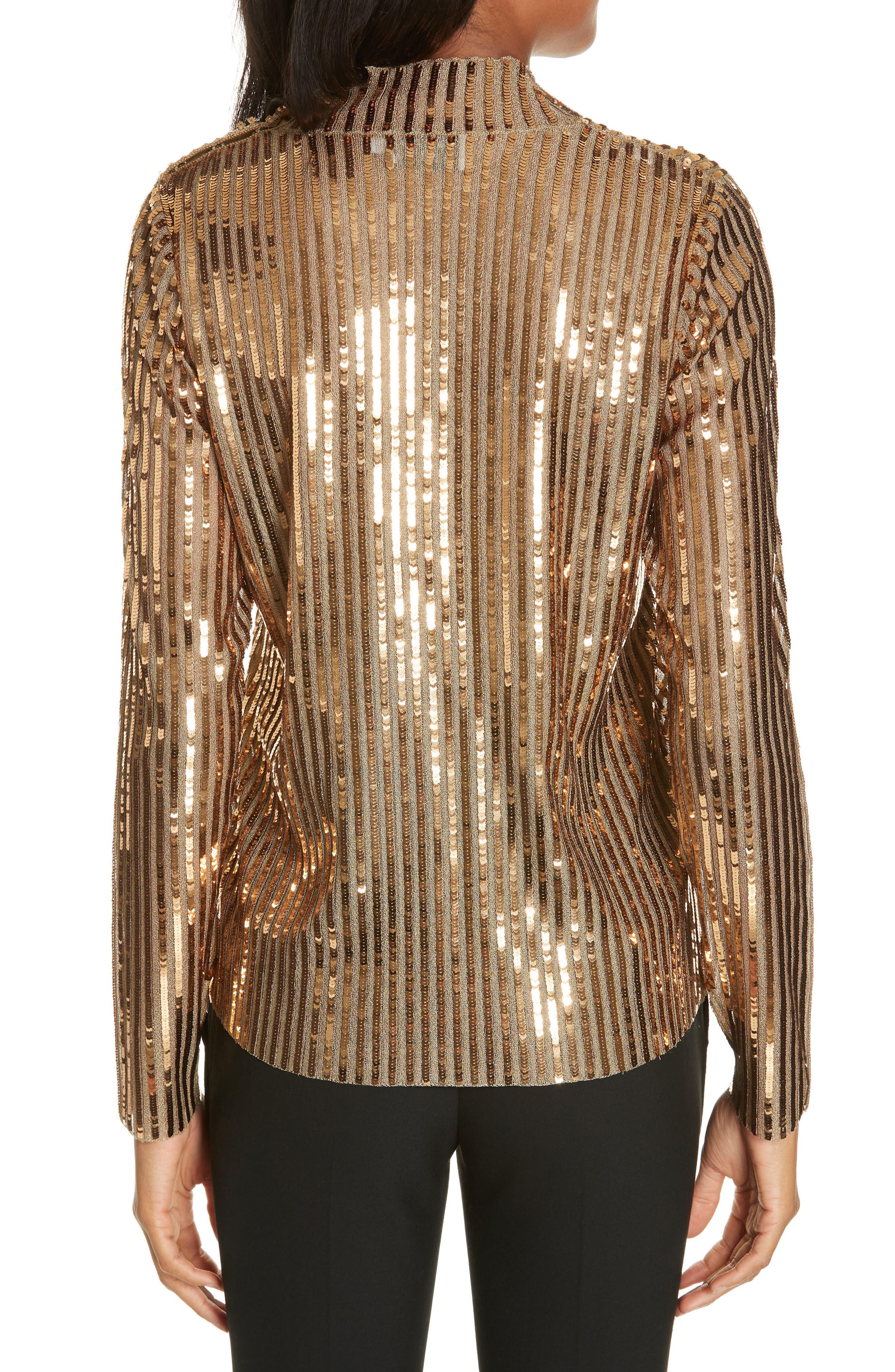 Grace Gold Sequins Top,                             Alternate thumbnail 2, color,                             GOLD