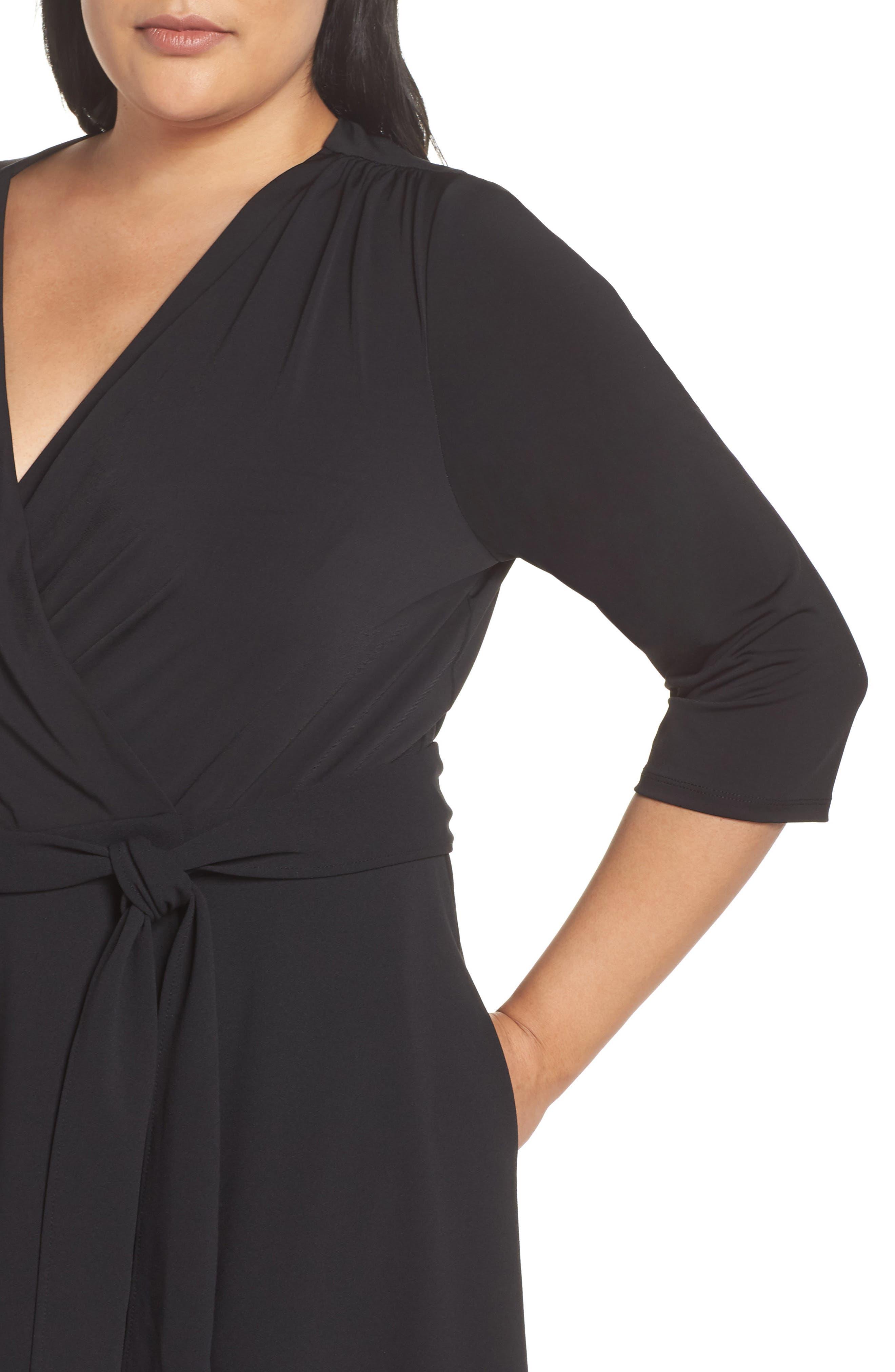 ECI,                             Wrap Dress,                             Alternate thumbnail 5, color,                             001