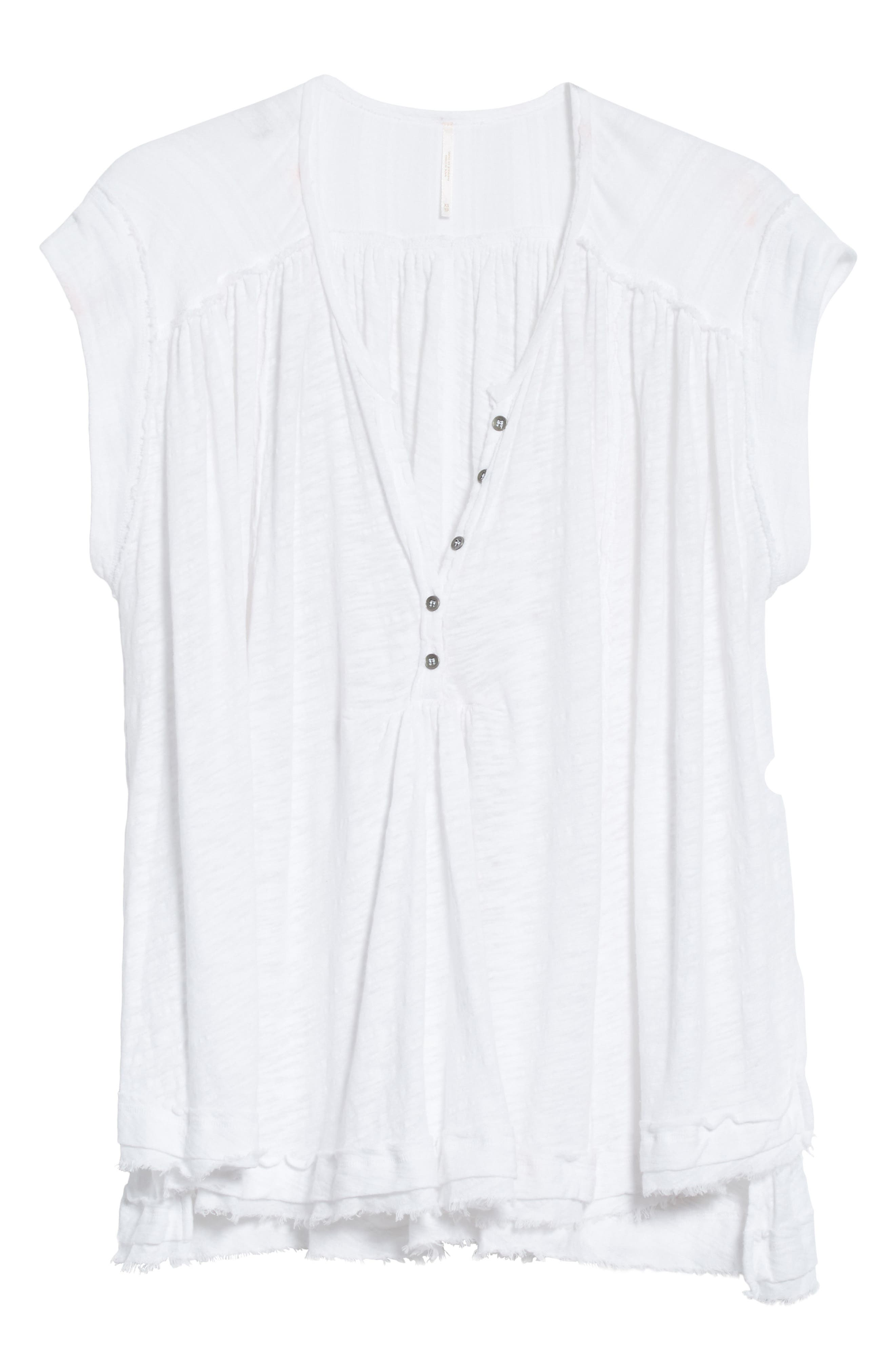 We the Free by Free People Aster Henley Top,                             Alternate thumbnail 6, color,                             WHITE