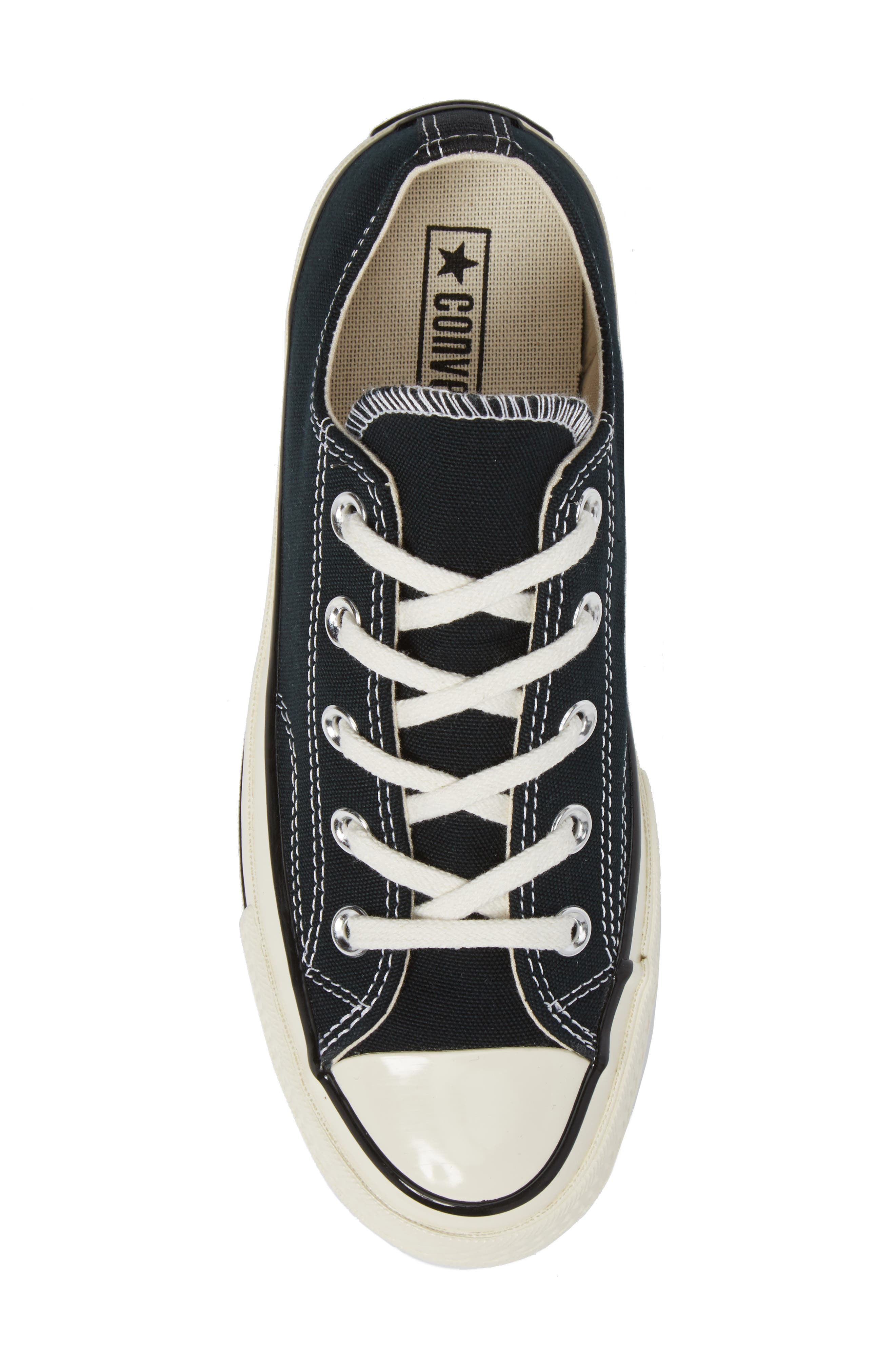 Chuck Taylor<sup>®</sup> All Star<sup>®</sup> Ox Low Top Sneaker,                             Alternate thumbnail 5, color,                             BLACK
