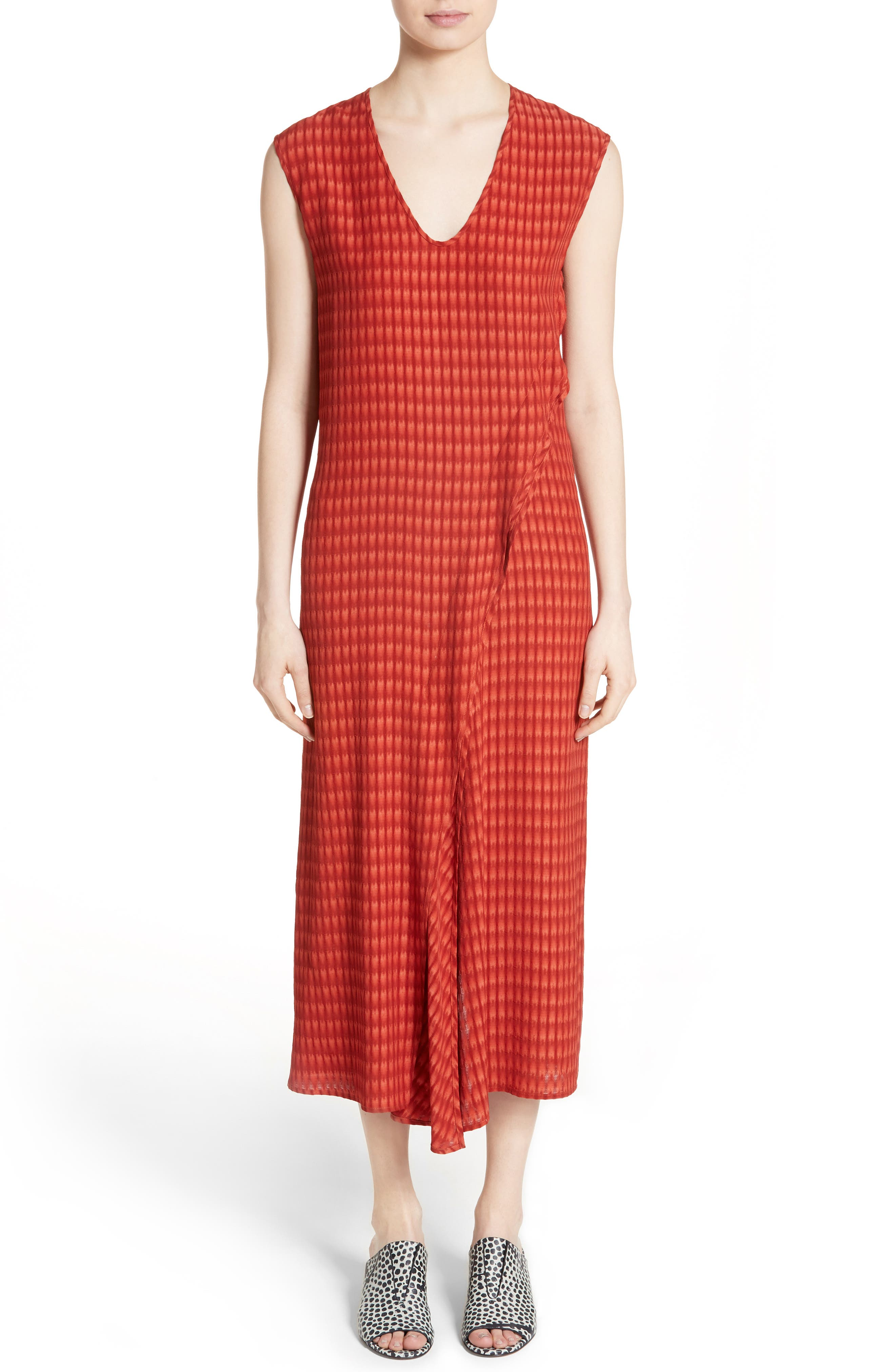 Twisted Tank Batik Plaid Dress,                         Main,                         color,