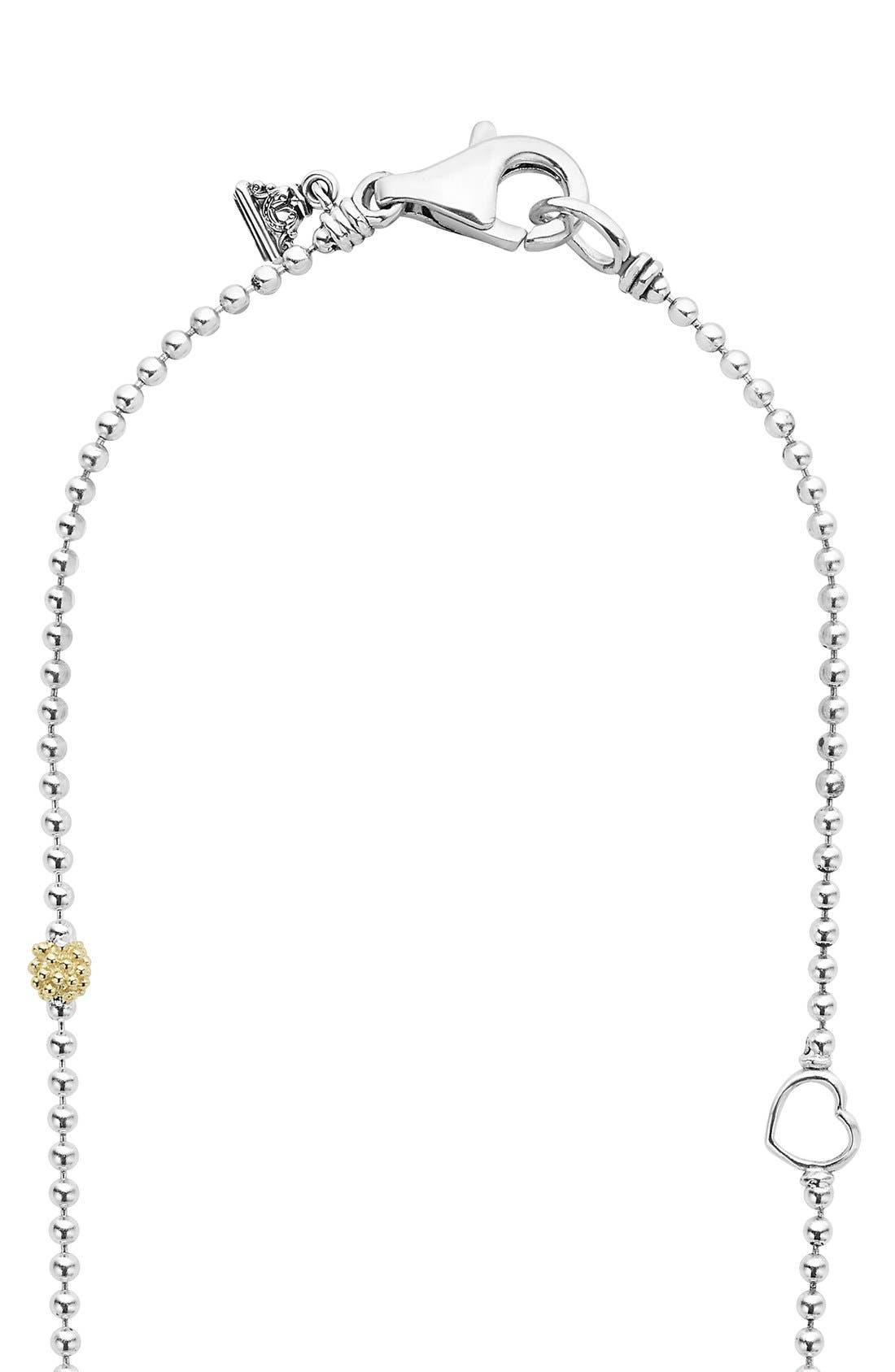 'Caviar Icon' Chain Necklace,                             Alternate thumbnail 4, color,                             SILVER/ GOLD