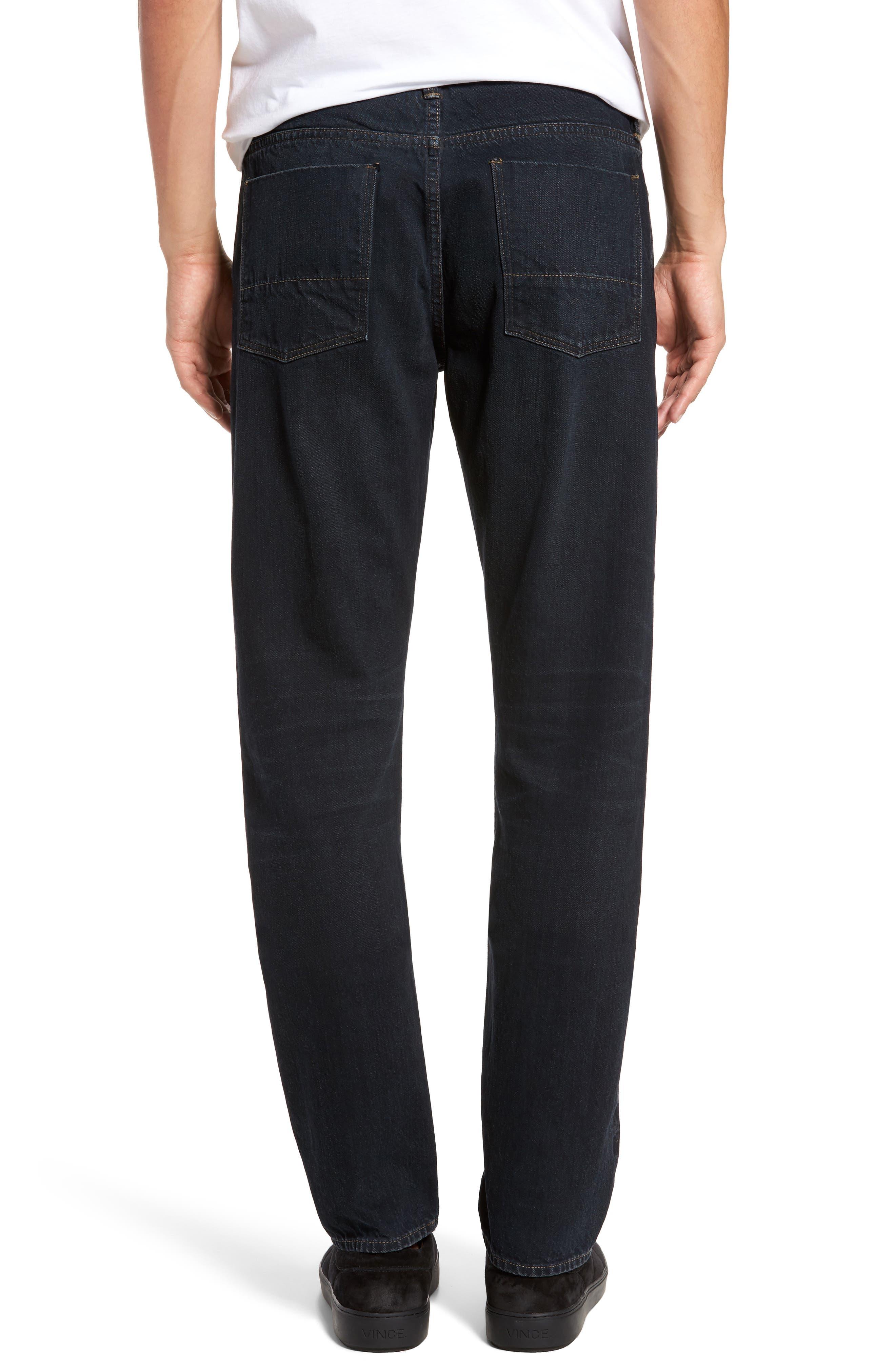 Slim Straight Leg Jeans,                             Alternate thumbnail 2, color,                             004