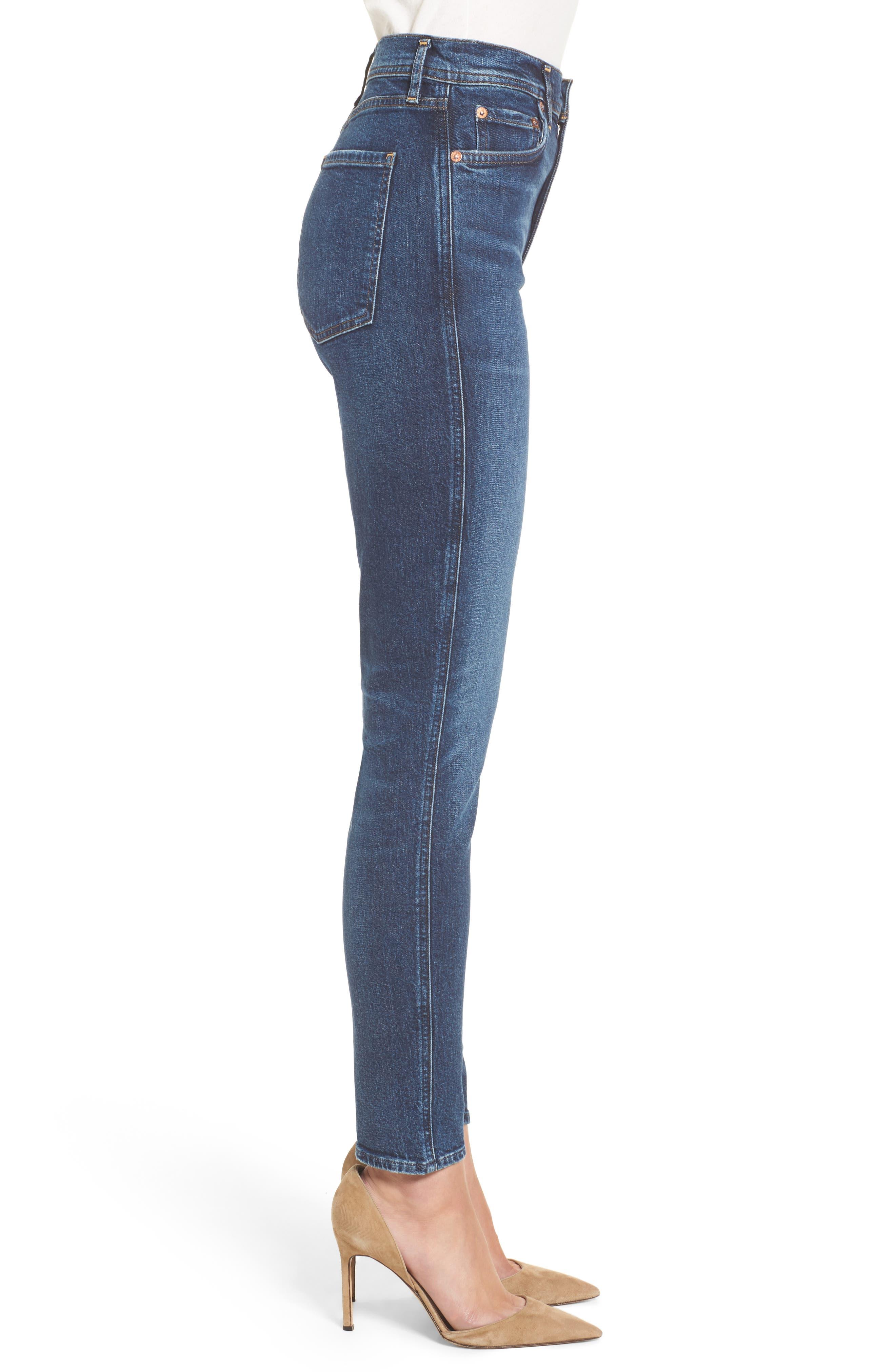 Roxanne Super High Rise Skinny Jeans,                             Alternate thumbnail 3, color,