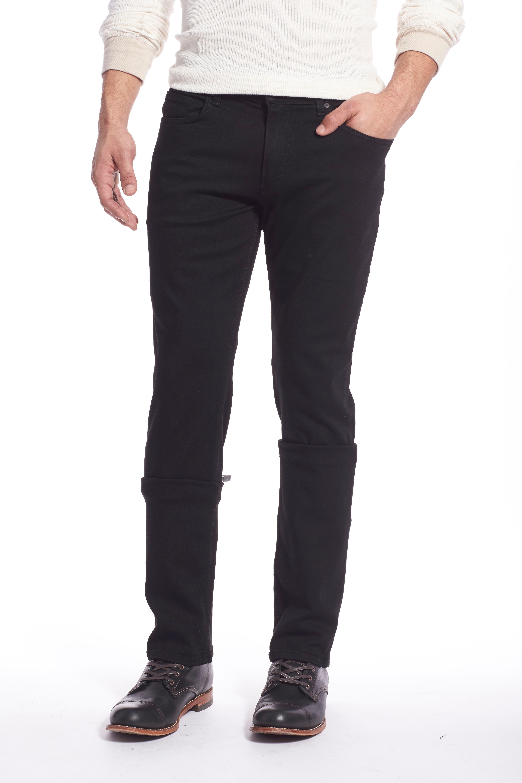Transcend - Lennox Slim Fit Jeans,                             Alternate thumbnail 5, color,                             BLACK SHADOW