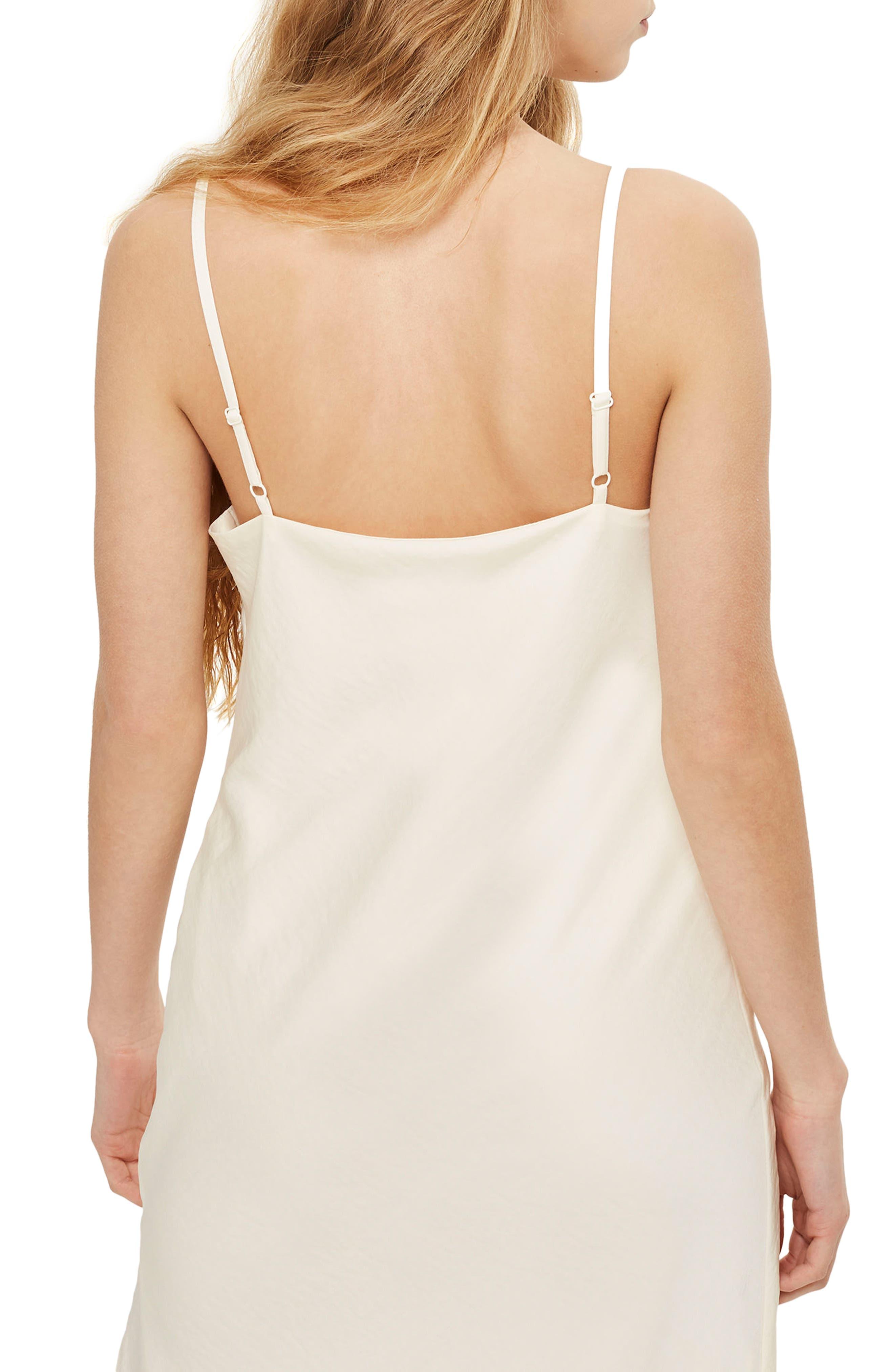 Cowl Neck Satin Midi Dress,                             Alternate thumbnail 6, color,