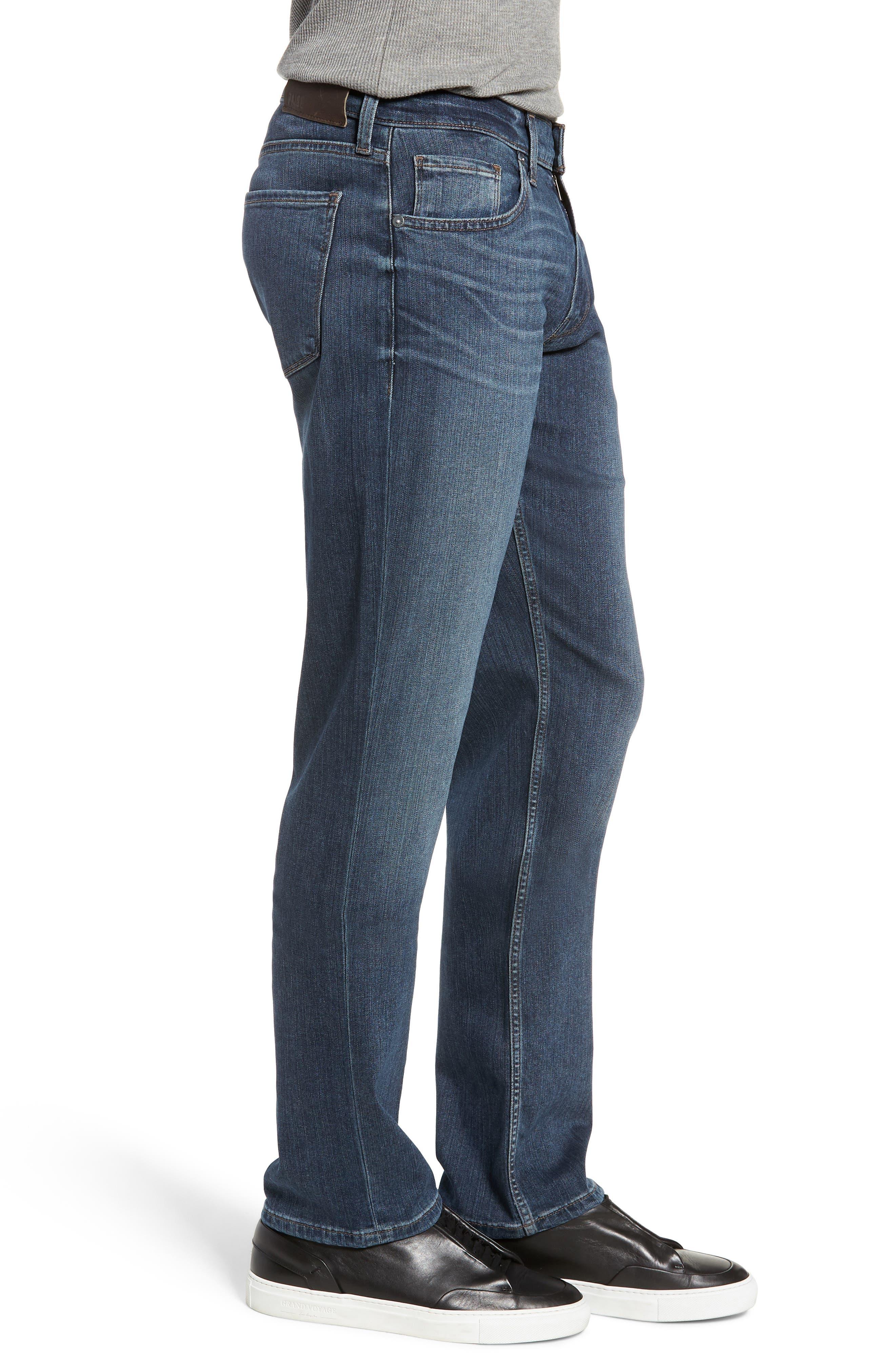 Transcend - Normandie Straight Leg Jeans,                             Alternate thumbnail 3, color,                             DILLON