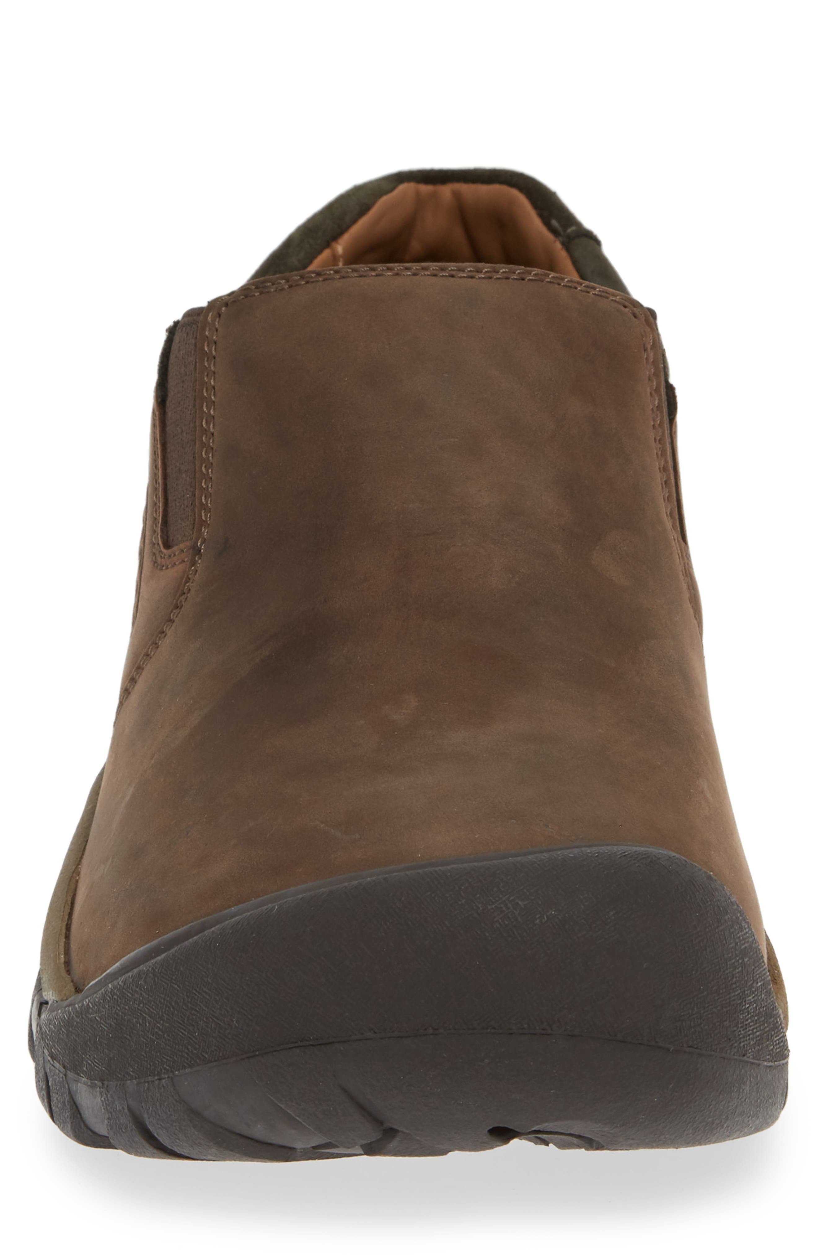 KEEN,                             Austin Water Resistant Slip-On Sneaker,                             Alternate thumbnail 4, color,                             CHOCOLATE BROWN/ BLACK OLIVE
