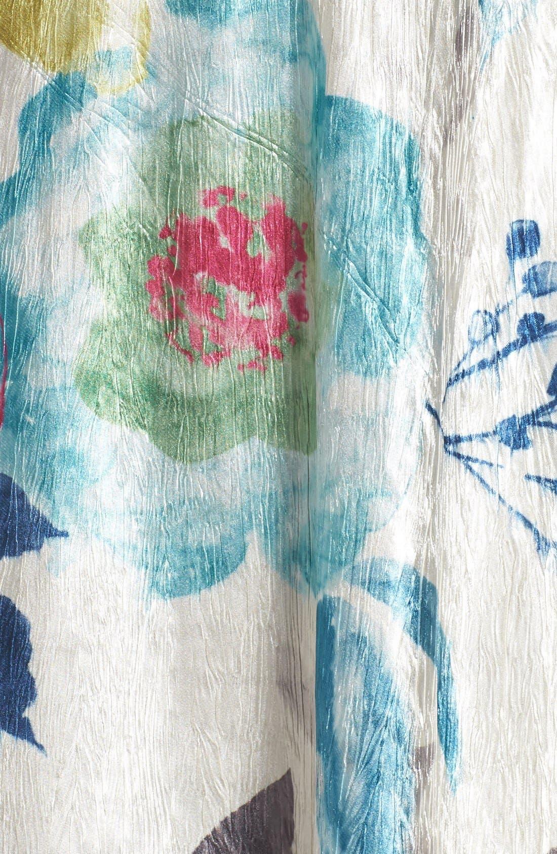 Lace & Charmeuse A-Line Dress,                             Alternate thumbnail 3, color,                             109