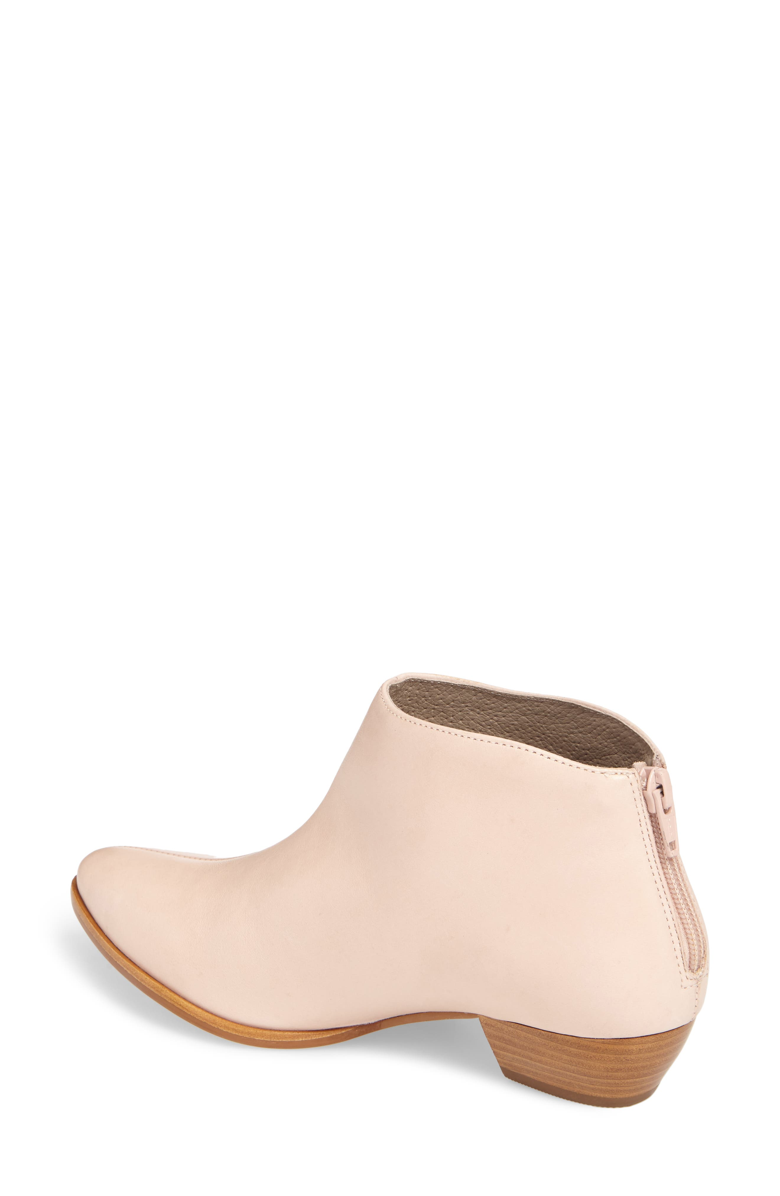 Aida Low Bootie,                             Alternate thumbnail 2, color,                             NUDE LEATHER