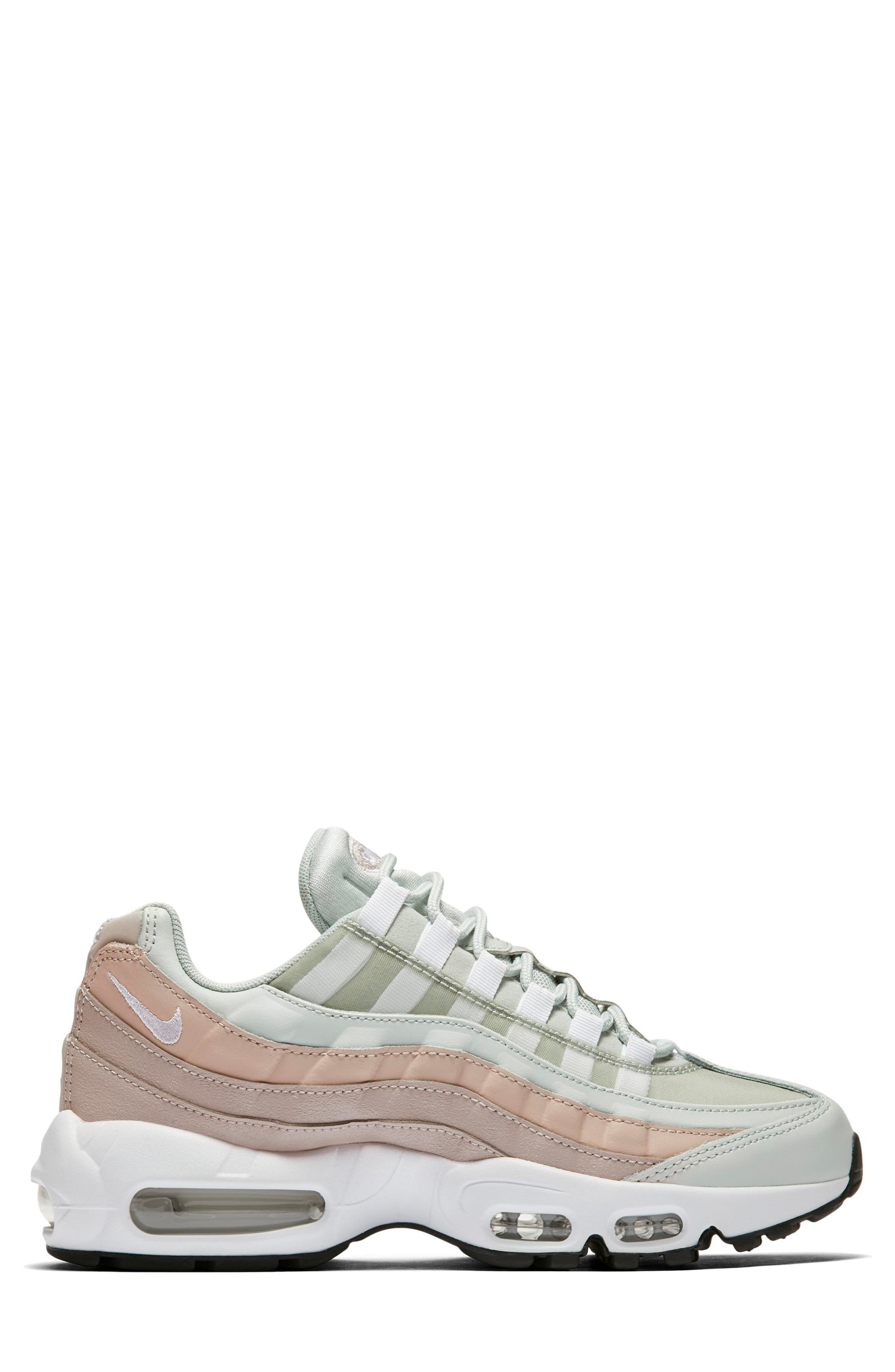 NIKE,                             Air Max 95 Running Shoe,                             Alternate thumbnail 3, color,                             SILVER/ WHITE/ MOON PARTICLE
