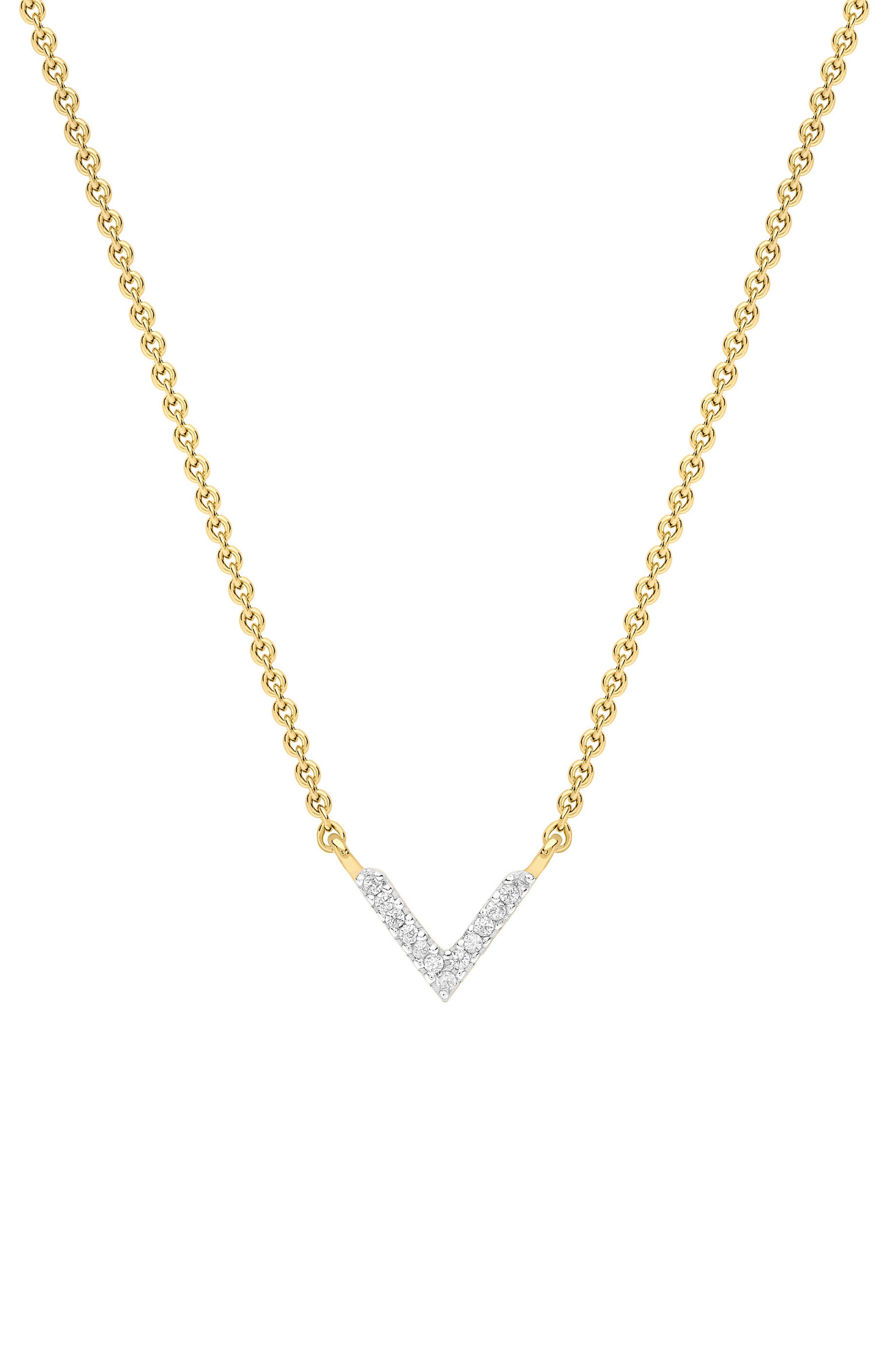 Pavé Open Arrow Pendant Necklace,                             Main thumbnail 1, color,                             710