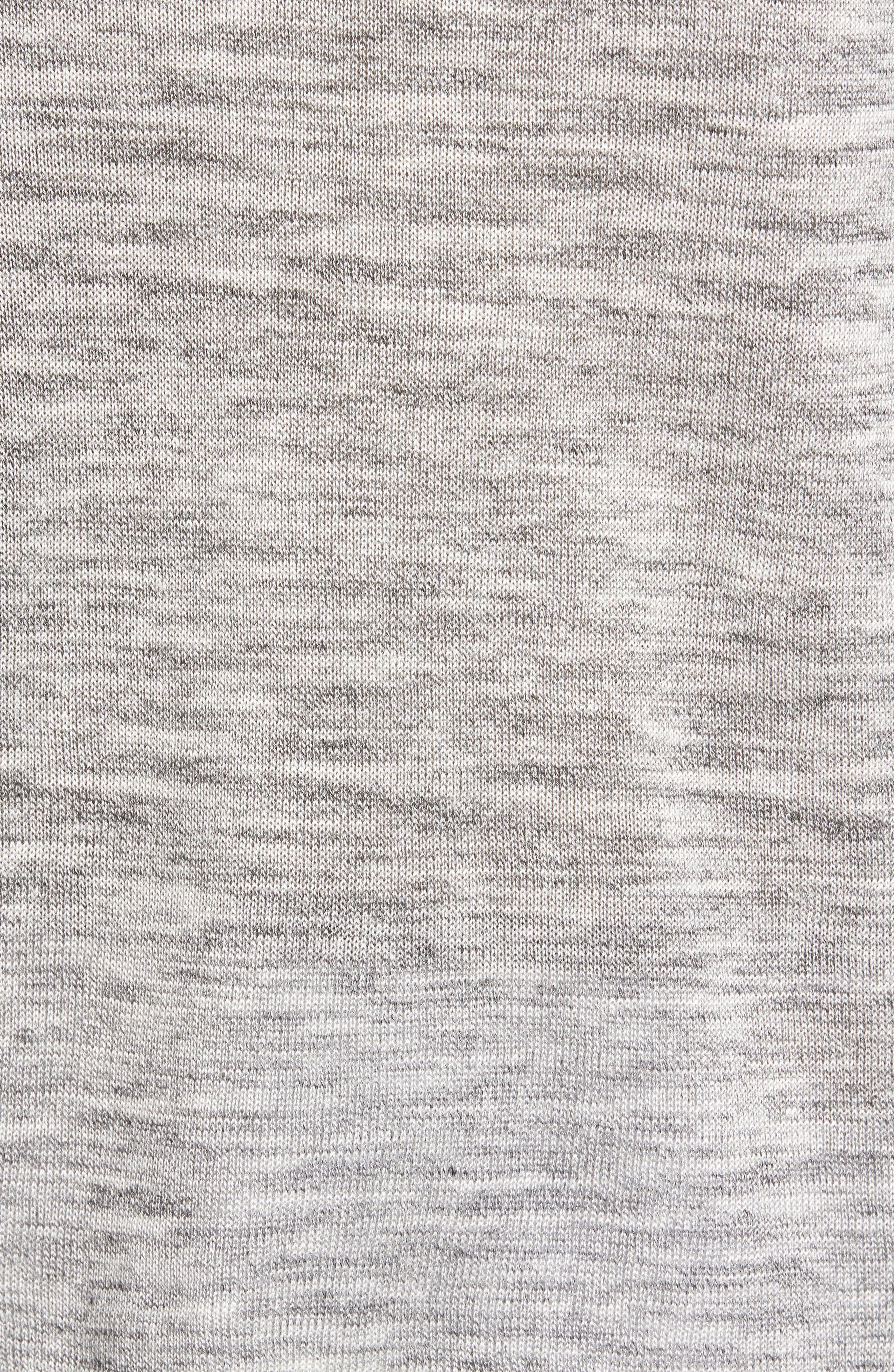 Inzone Crewneck Linen Blend Sweater,                             Alternate thumbnail 5, color,                             LIGHT GREY