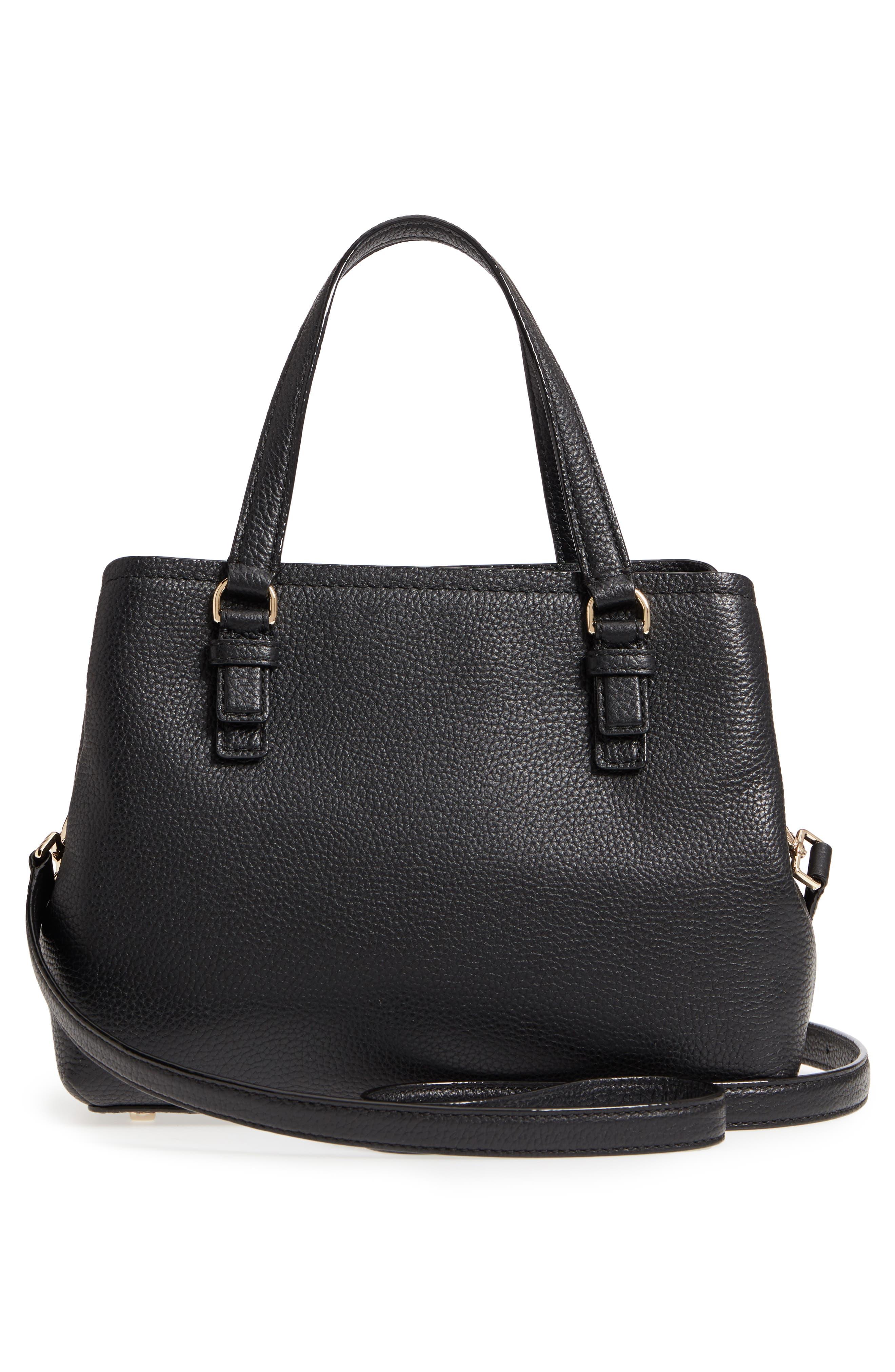 jackson street – small octavia leather satchel,                             Alternate thumbnail 3, color,                             001