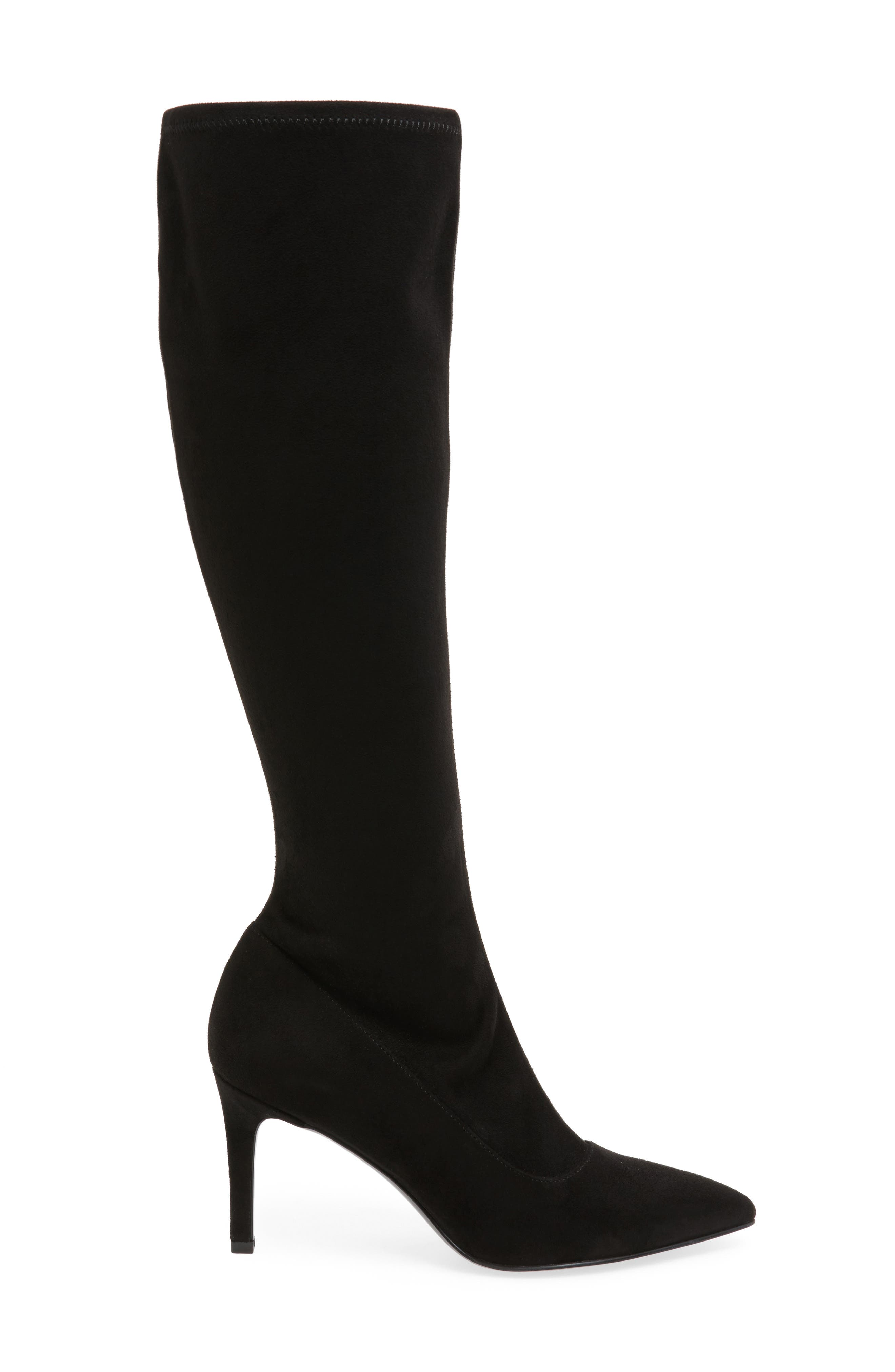 Carrara Knee High Pointy Toe Boot,                             Alternate thumbnail 5, color,
