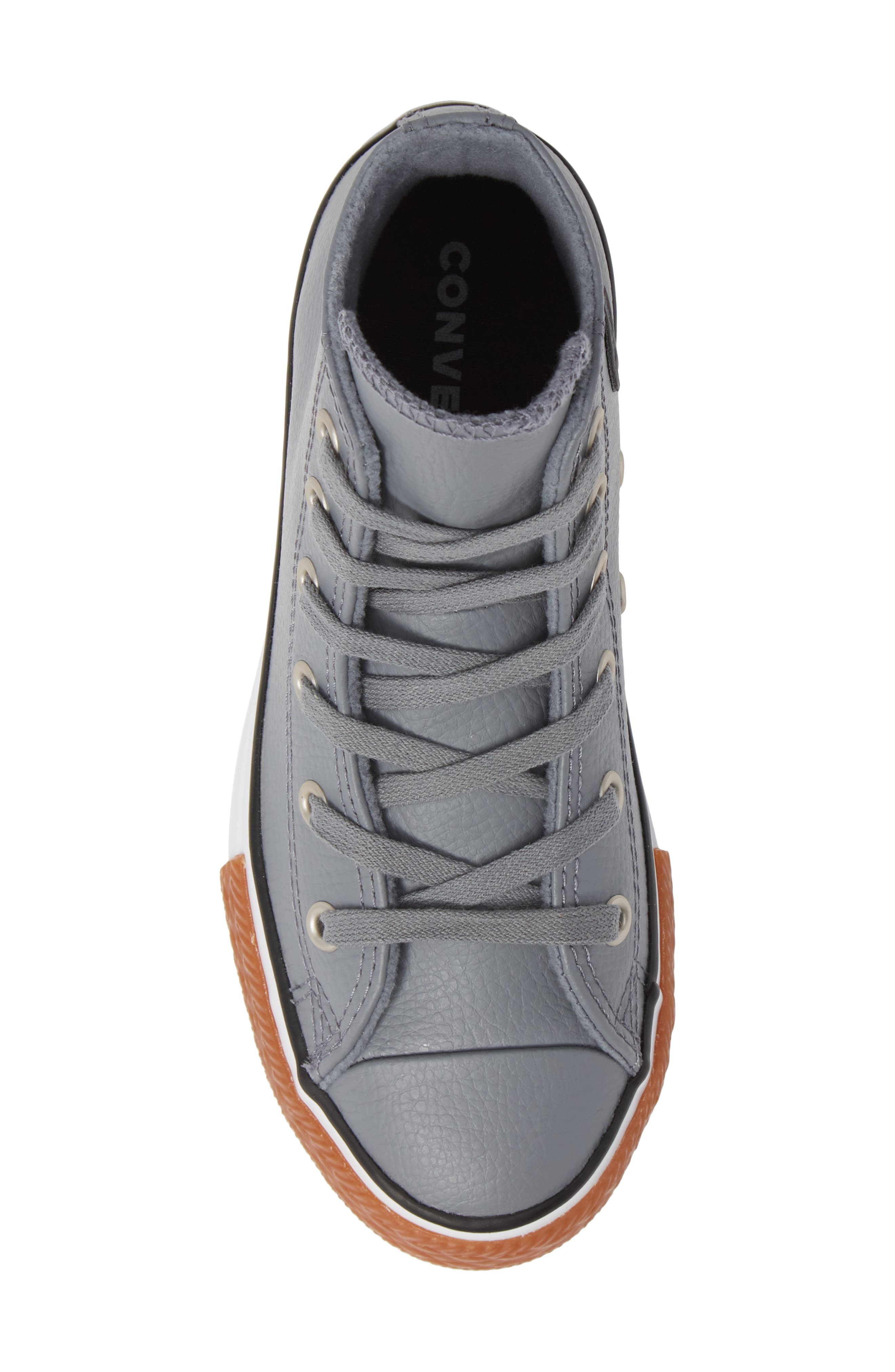 Chuck Taylor<sup>®</sup> All Star<sup>®</sup> No Gum In Class Leather High Top Sneaker,                             Alternate thumbnail 5, color,                             COOL GREY