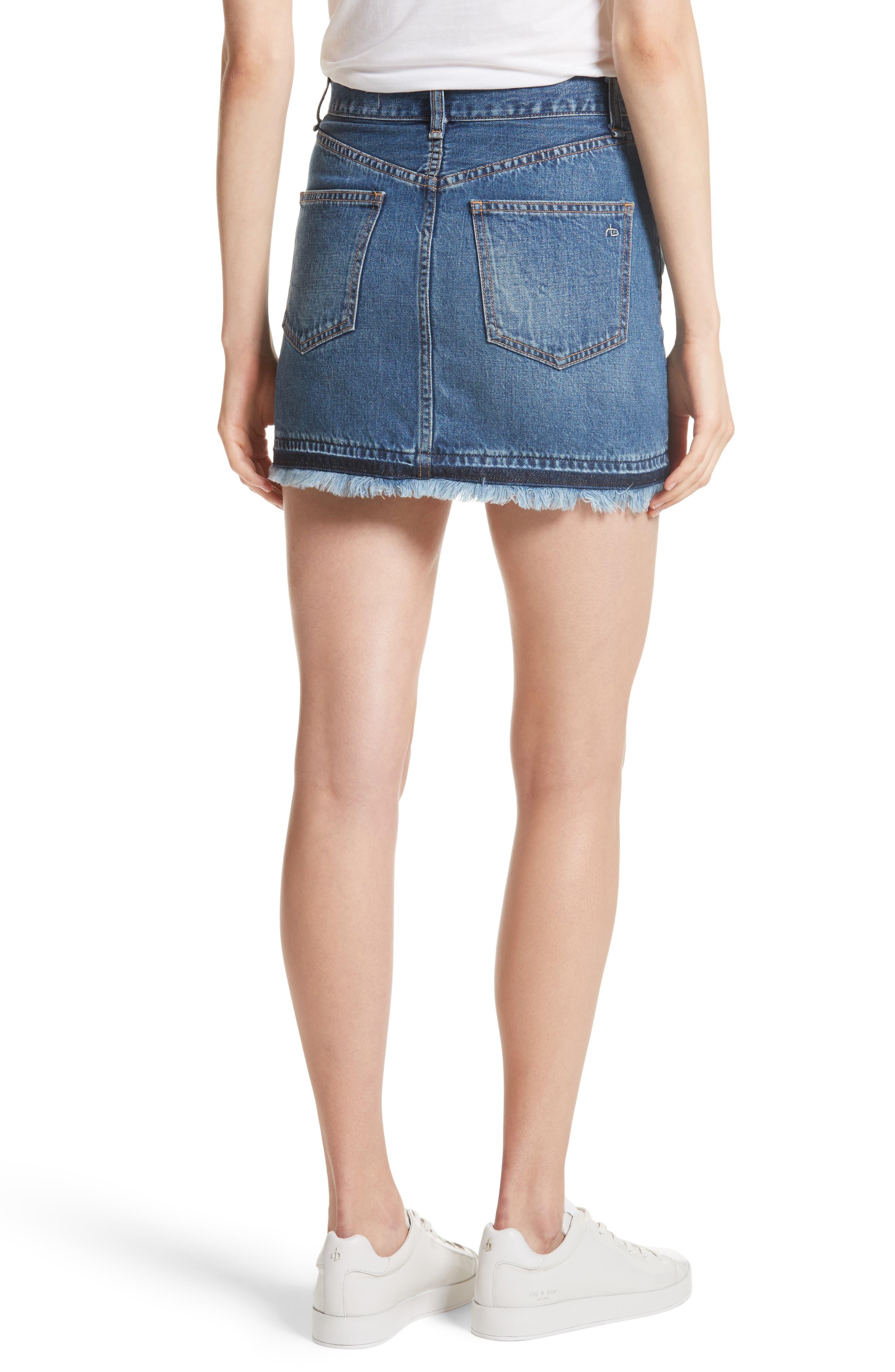 Dive Denim Skirt,                             Alternate thumbnail 2, color,                             472