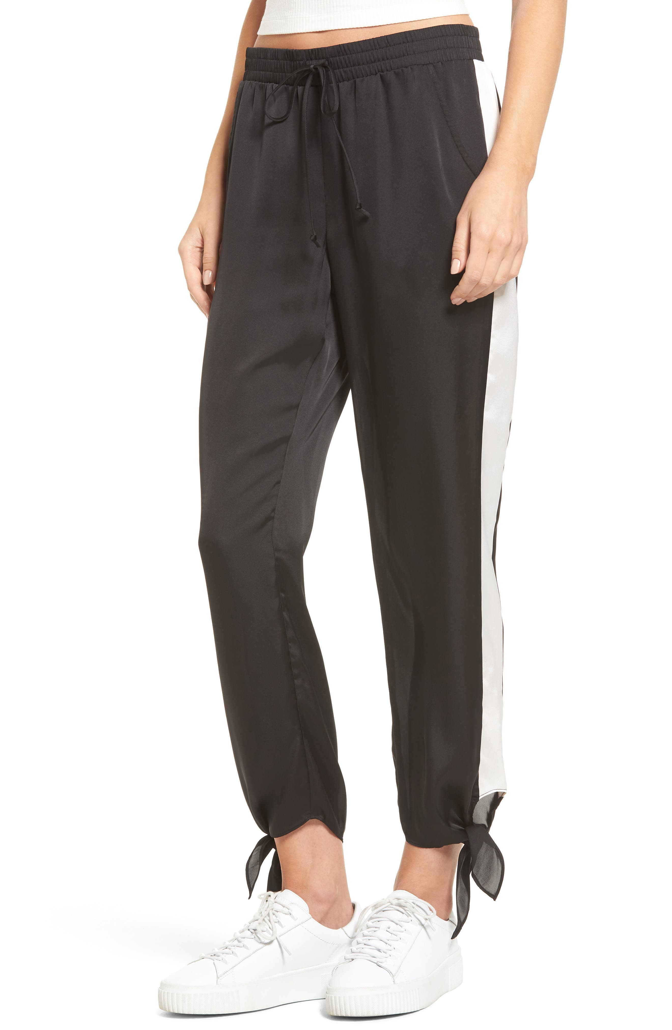 Ankle Tie Track Pants,                         Main,                         color, 001