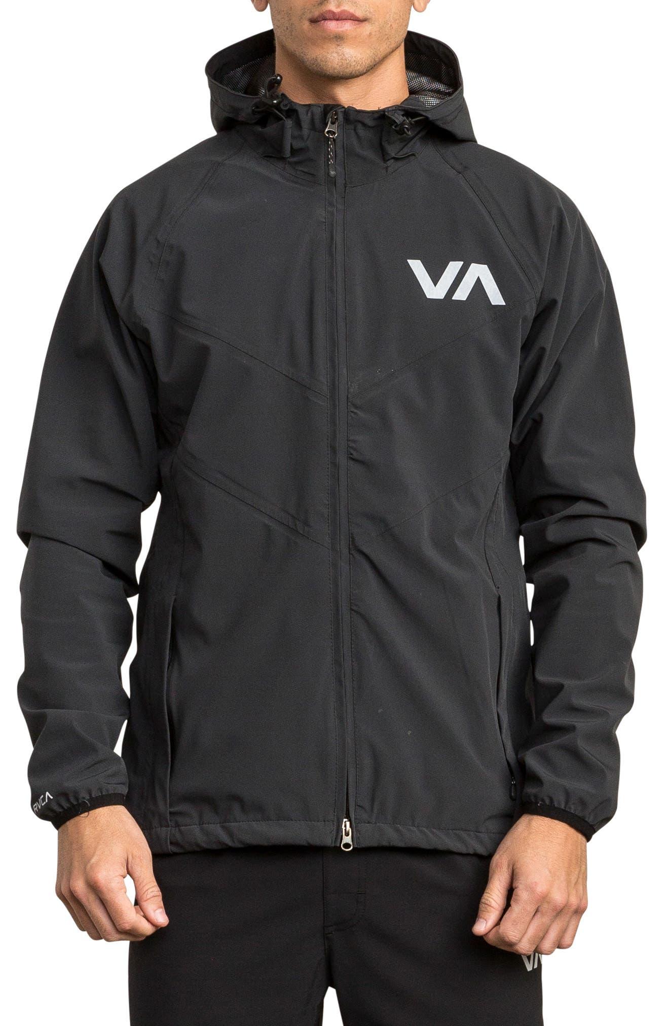 VA Packable Windbreaker,                             Main thumbnail 1, color,                             BLACK