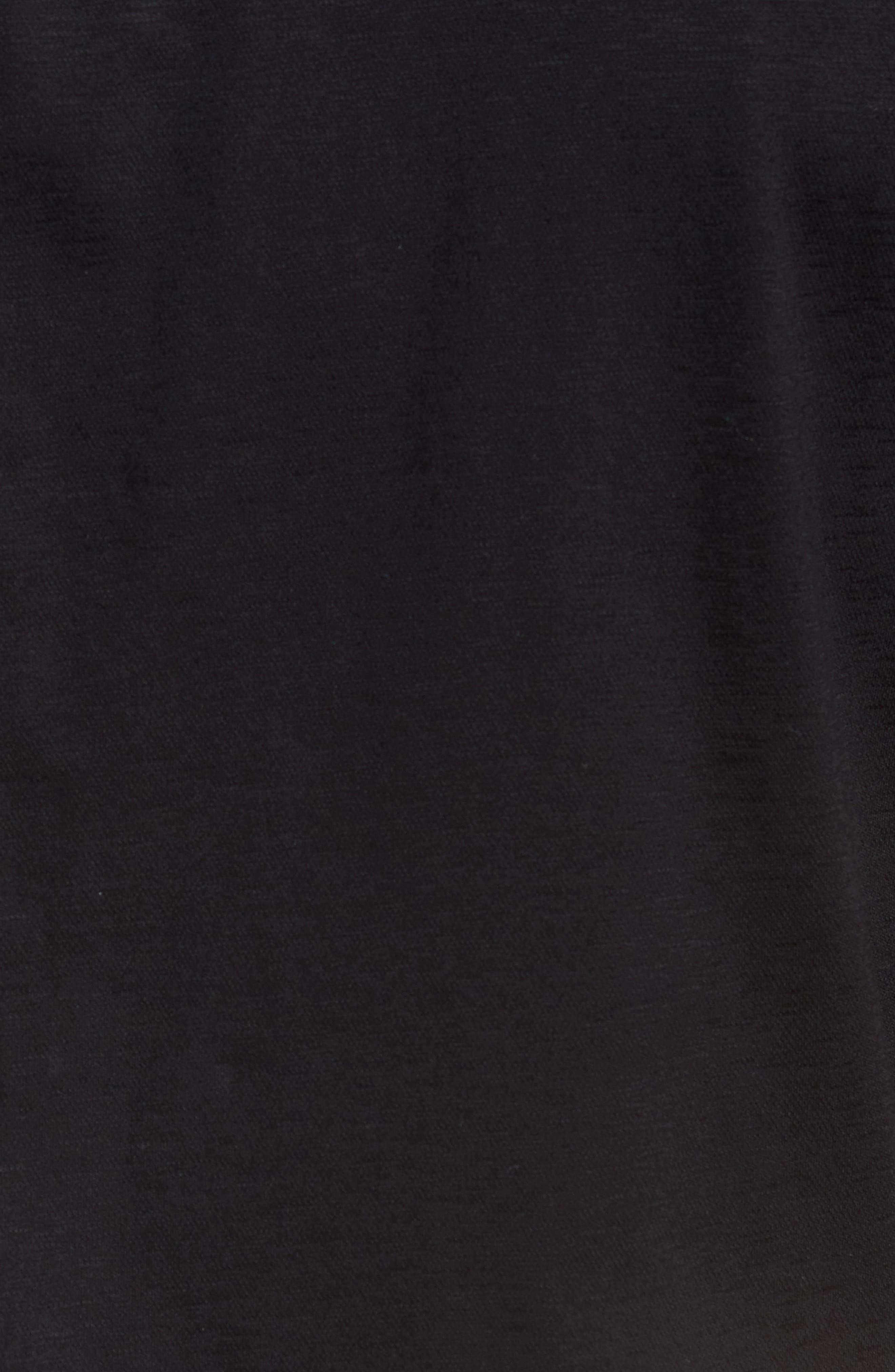 Slim Fit Flame Knit Sport Shirt,                             Alternate thumbnail 5, color,                             BLACK