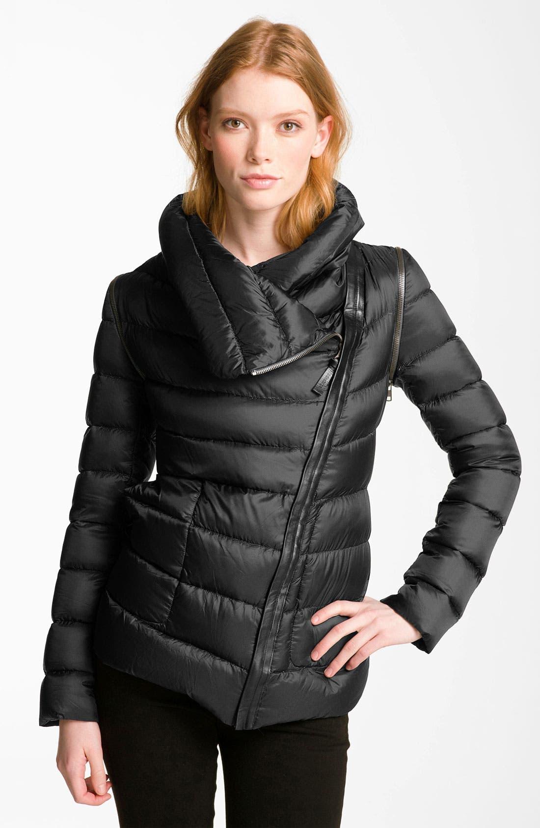 Asymmetrical Zip Down Jacket,                             Main thumbnail 1, color,                             001