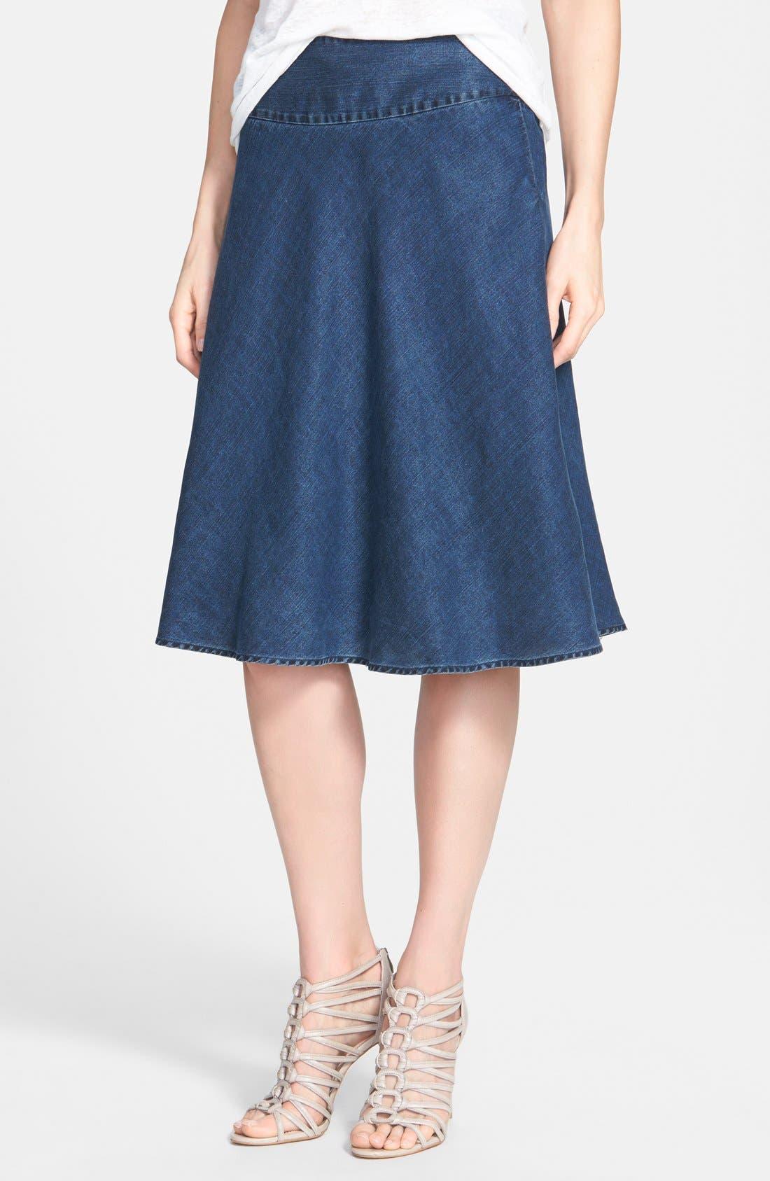 'Summer Fling' Flirt Skirt,                         Main,                         color, INDIGO