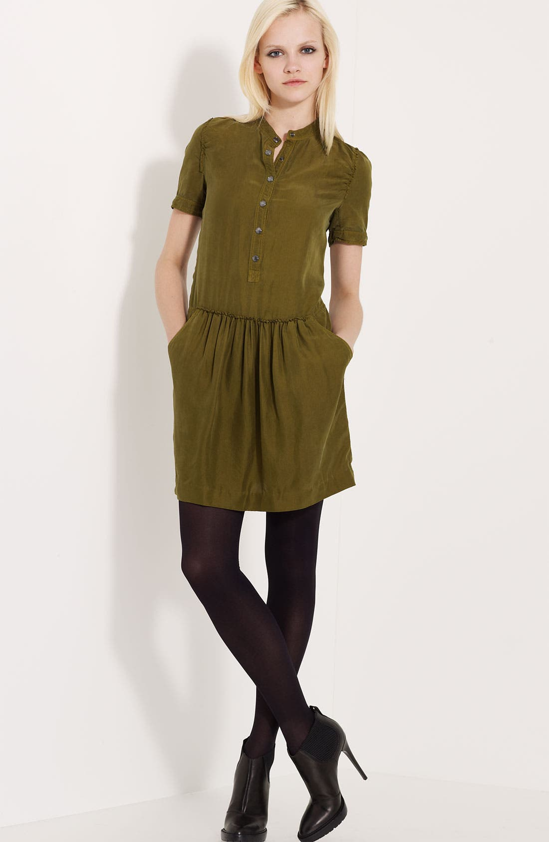 Mulberry Silk Dress,                             Main thumbnail 1, color,                             300