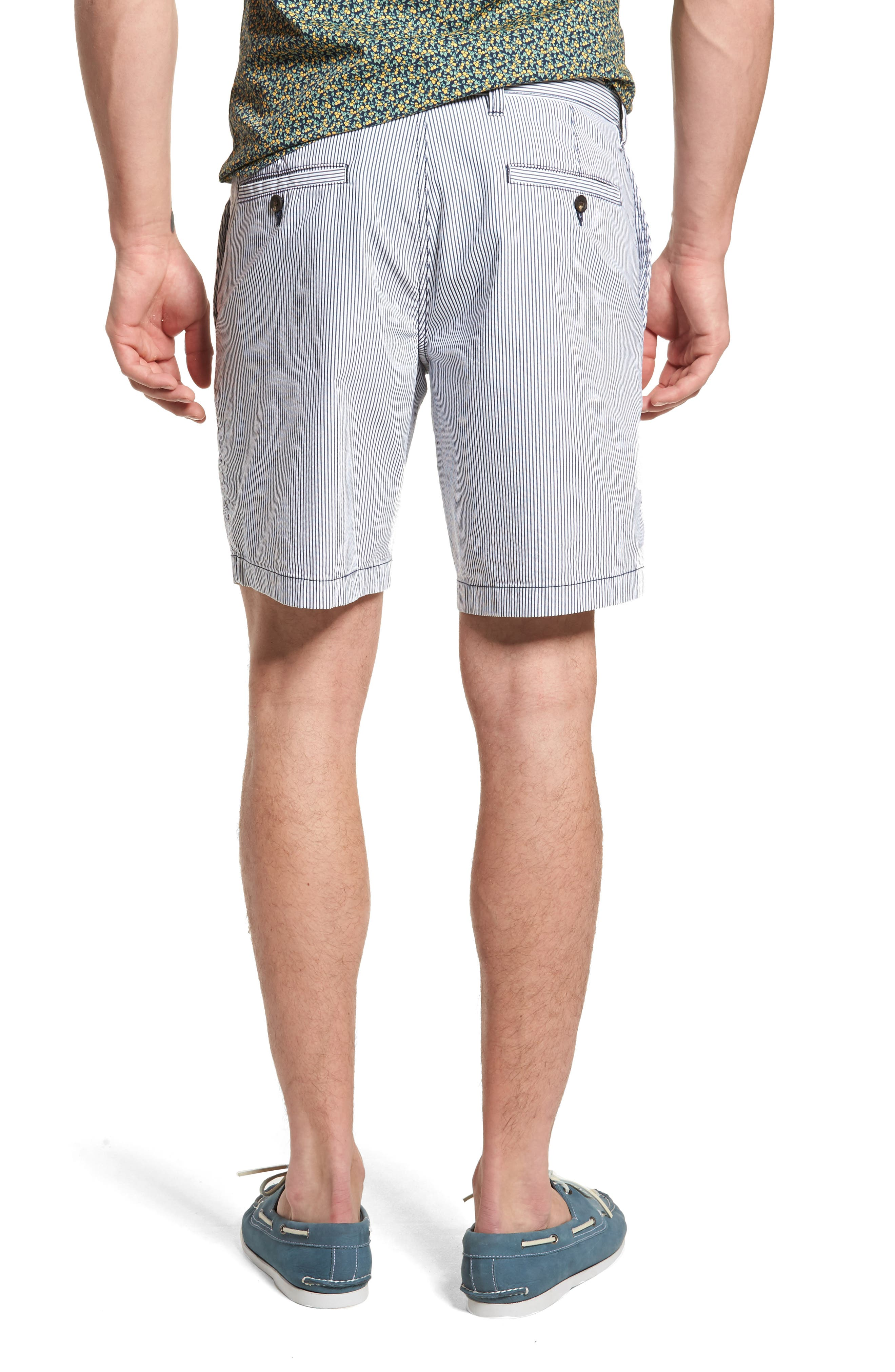 Ballard Slim Fit Seersucker Shorts,                             Alternate thumbnail 2, color,                             410