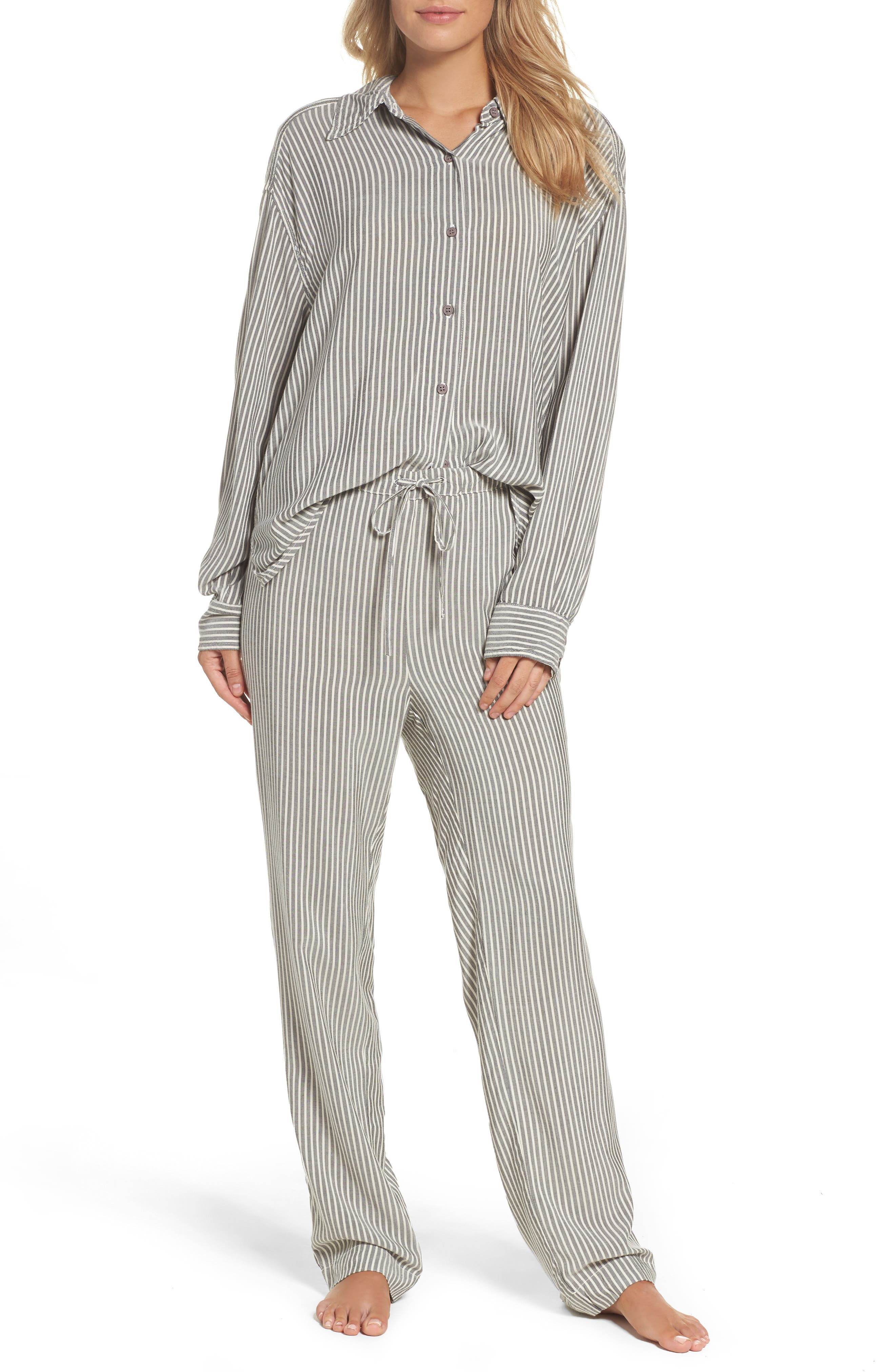 Stripe Pajama Pants,                             Alternate thumbnail 7, color,                             020