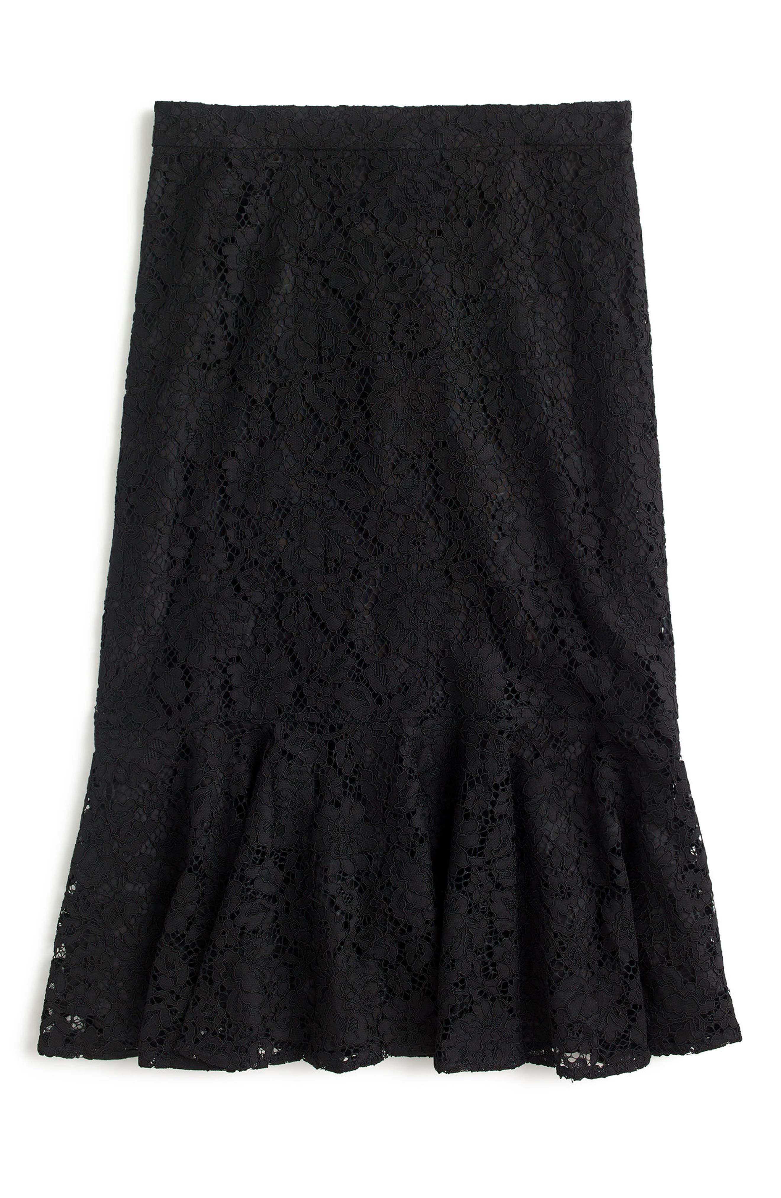 Lace Trumpet Skirt,                         Main,                         color, 001