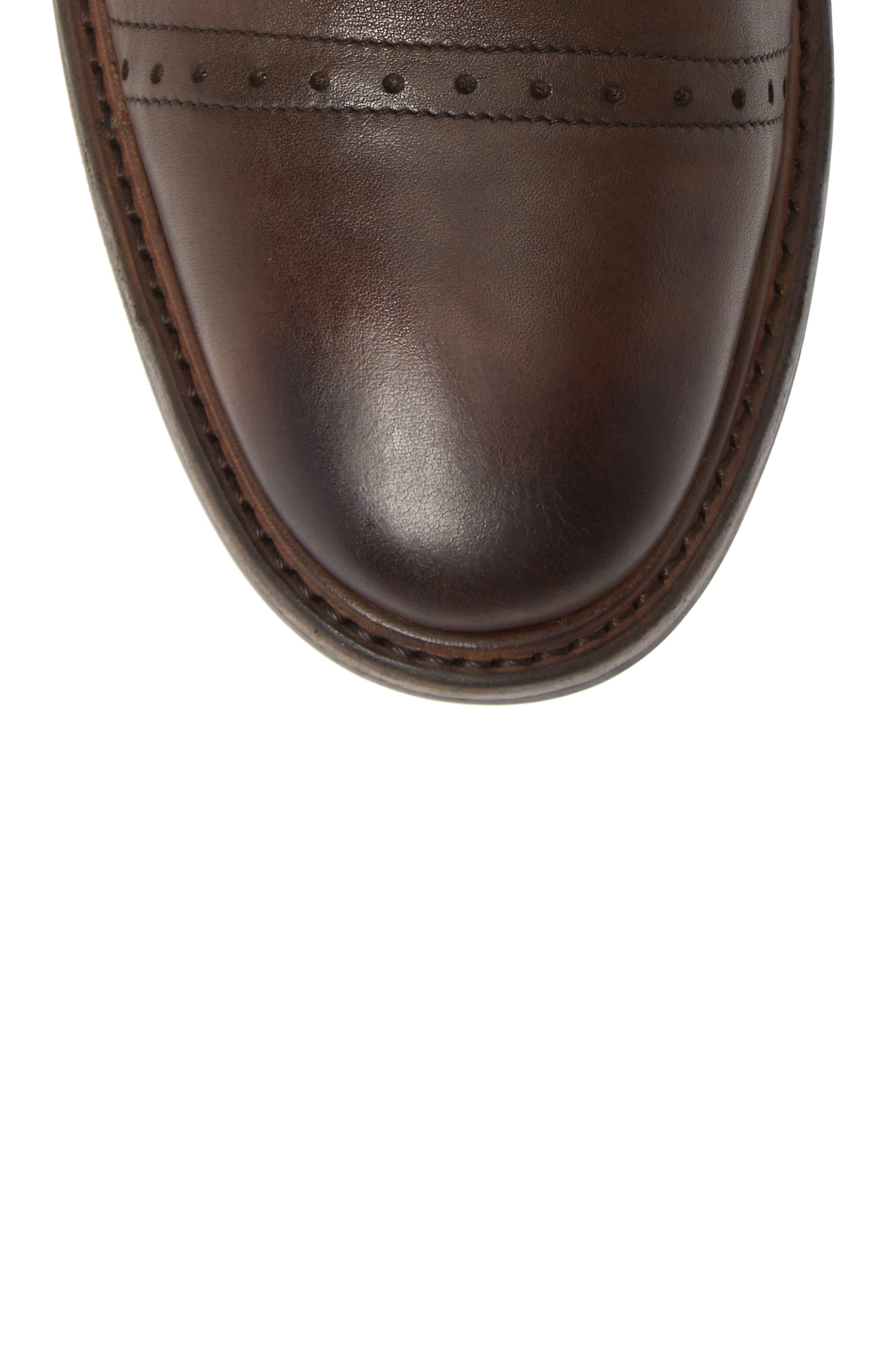 Murray Cap Toe Boot,                             Alternate thumbnail 5, color,                             BROWN