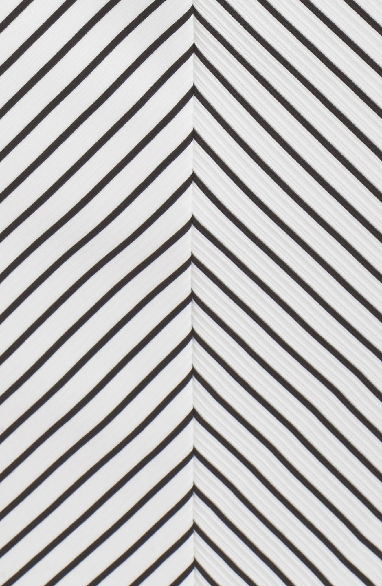 Ottoman Stripe Sheath Dress,                             Alternate thumbnail 5, color,                             004
