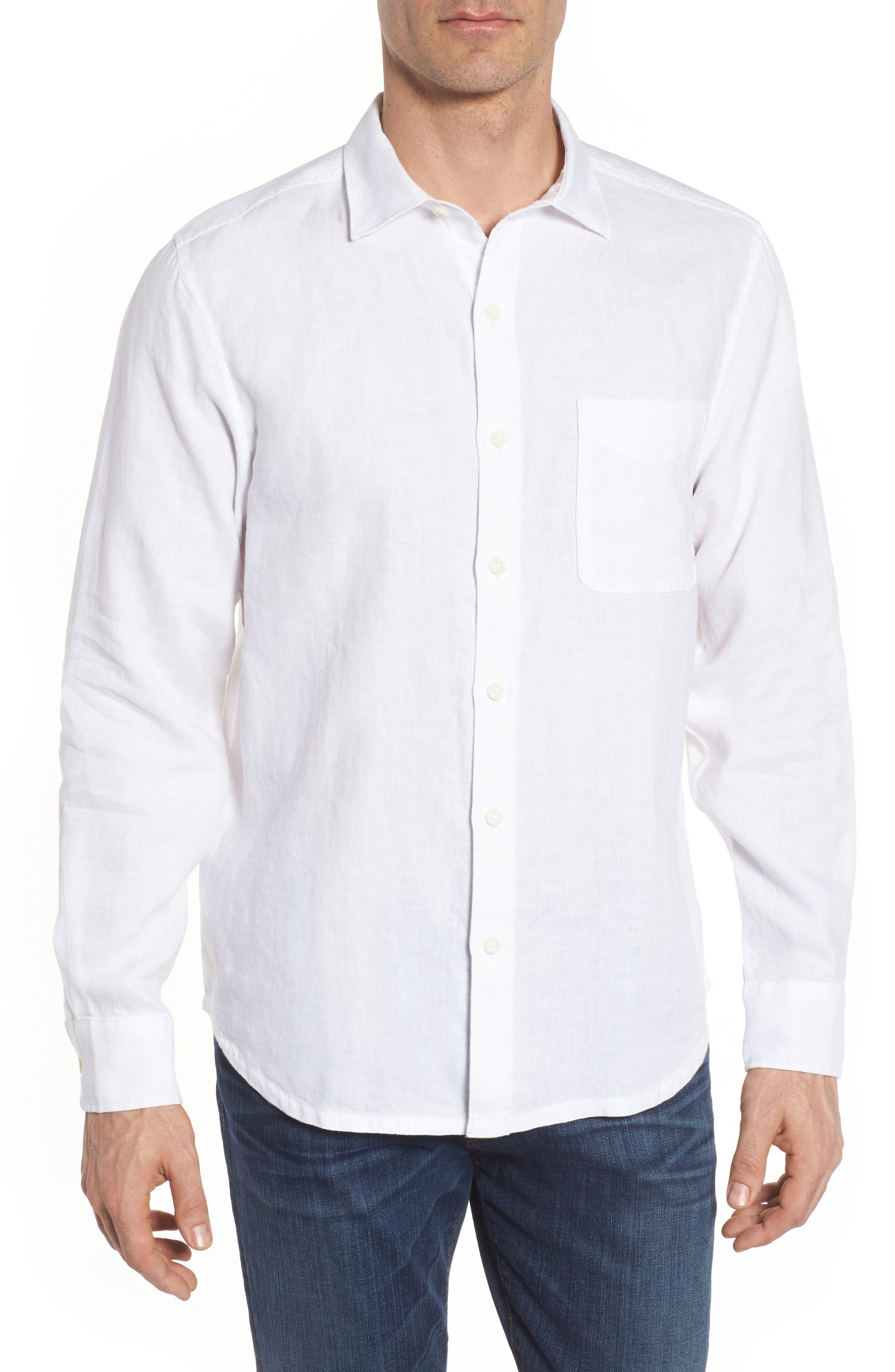 Seaspray Breezer Linen Shirt,                             Main thumbnail 1, color,