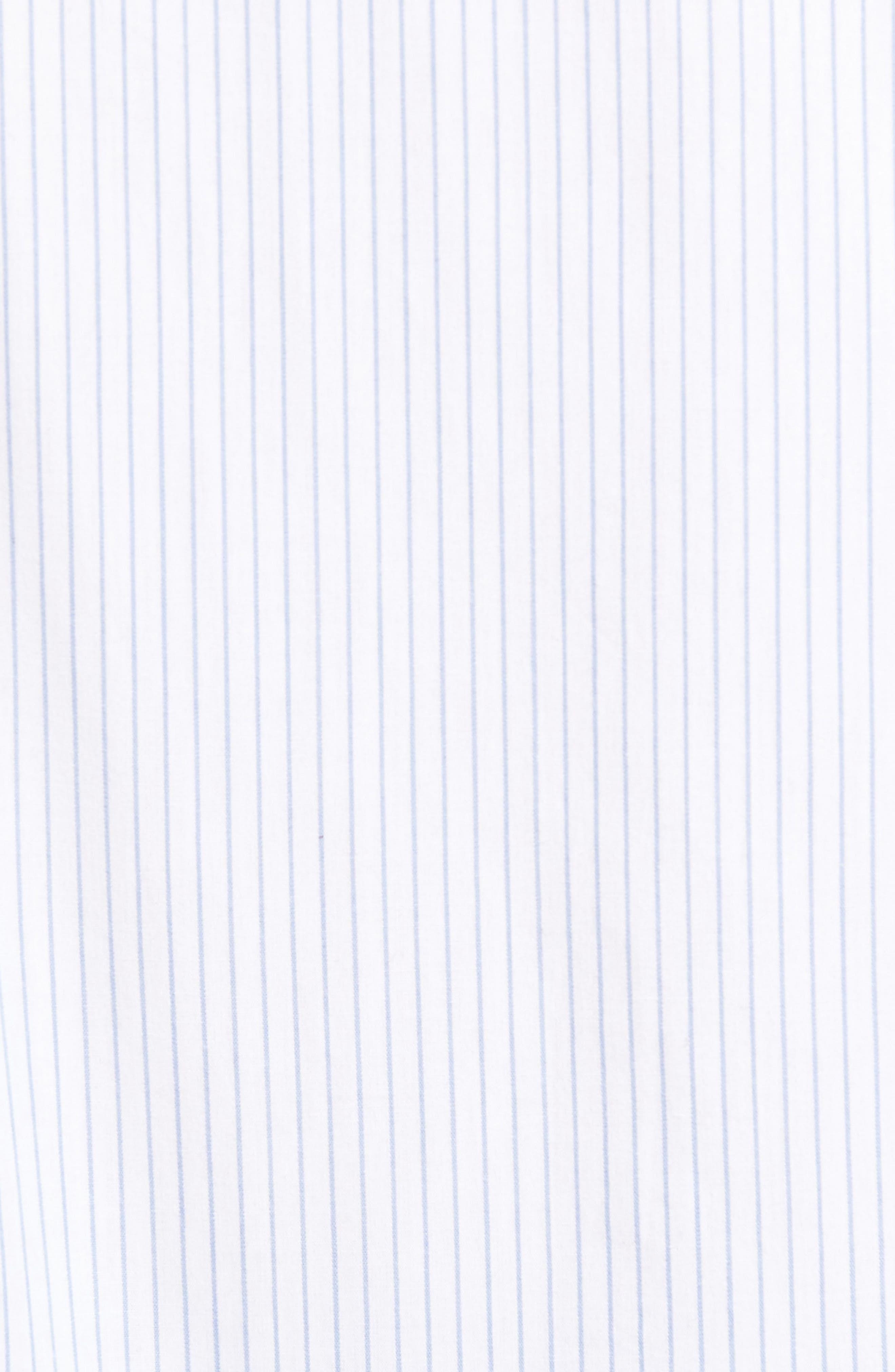 Reeve Pinstripe Woven Shirt,                             Alternate thumbnail 5, color,                             100