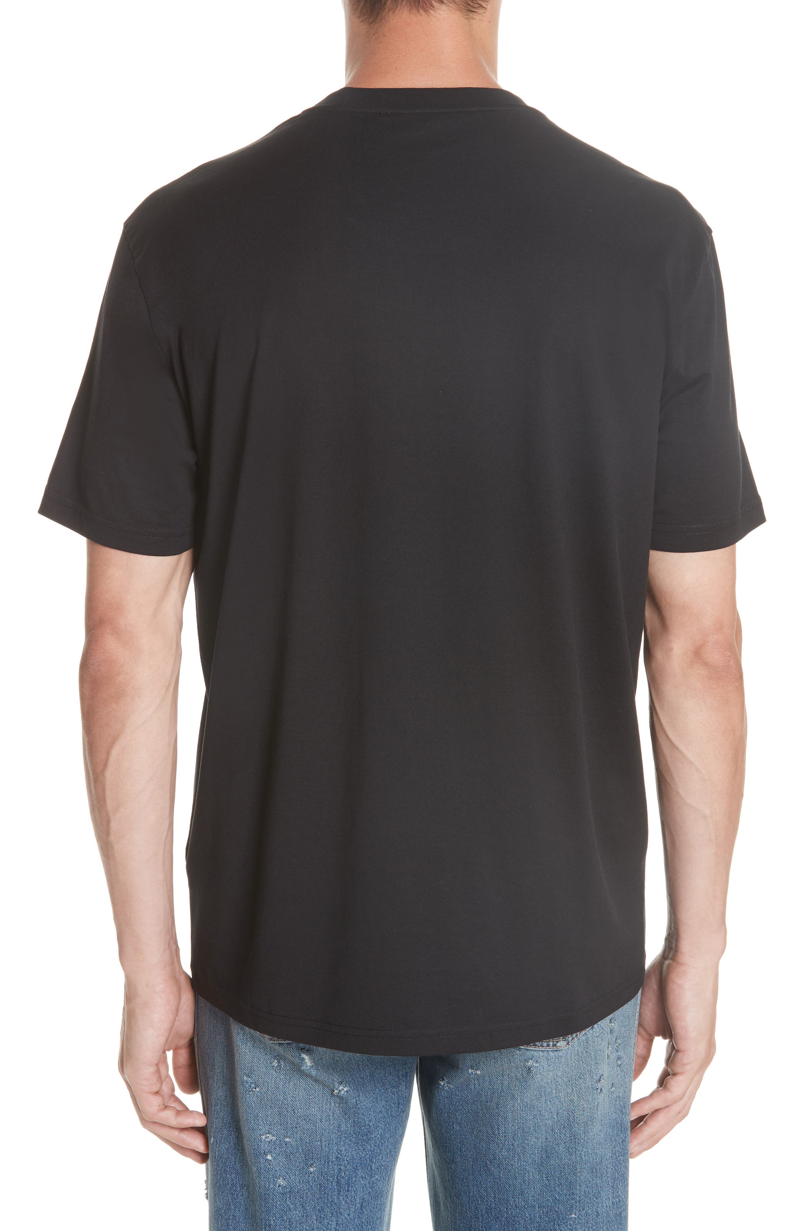 GIVENCHY,                             Vintage Logo T-Shirt,                             Alternate thumbnail 2, color,                             001