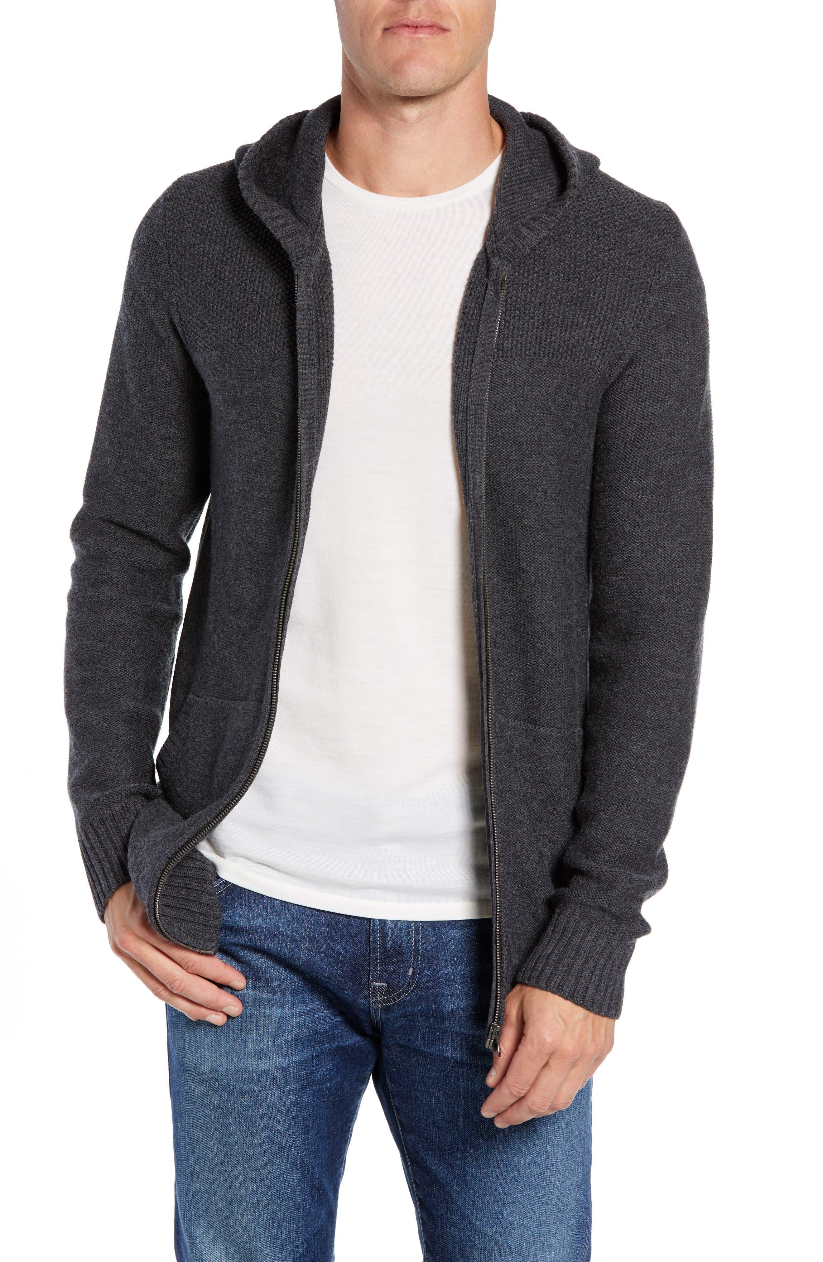 Icebreaker Waypoint Zip Hoodie Sweater, Grey