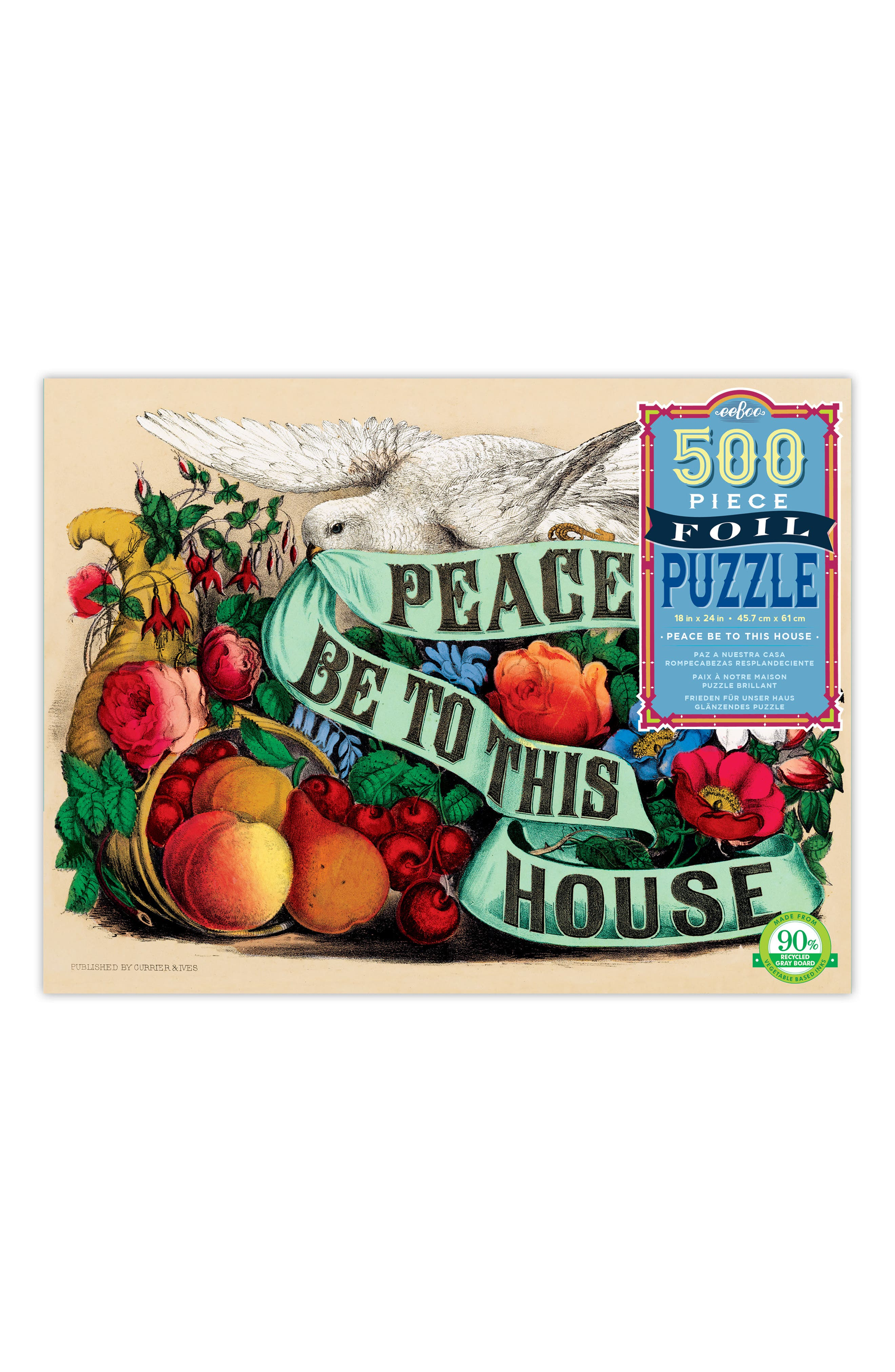 Peace Be to This House 500-Piece Puzzle,                             Main thumbnail 1, color,                             300