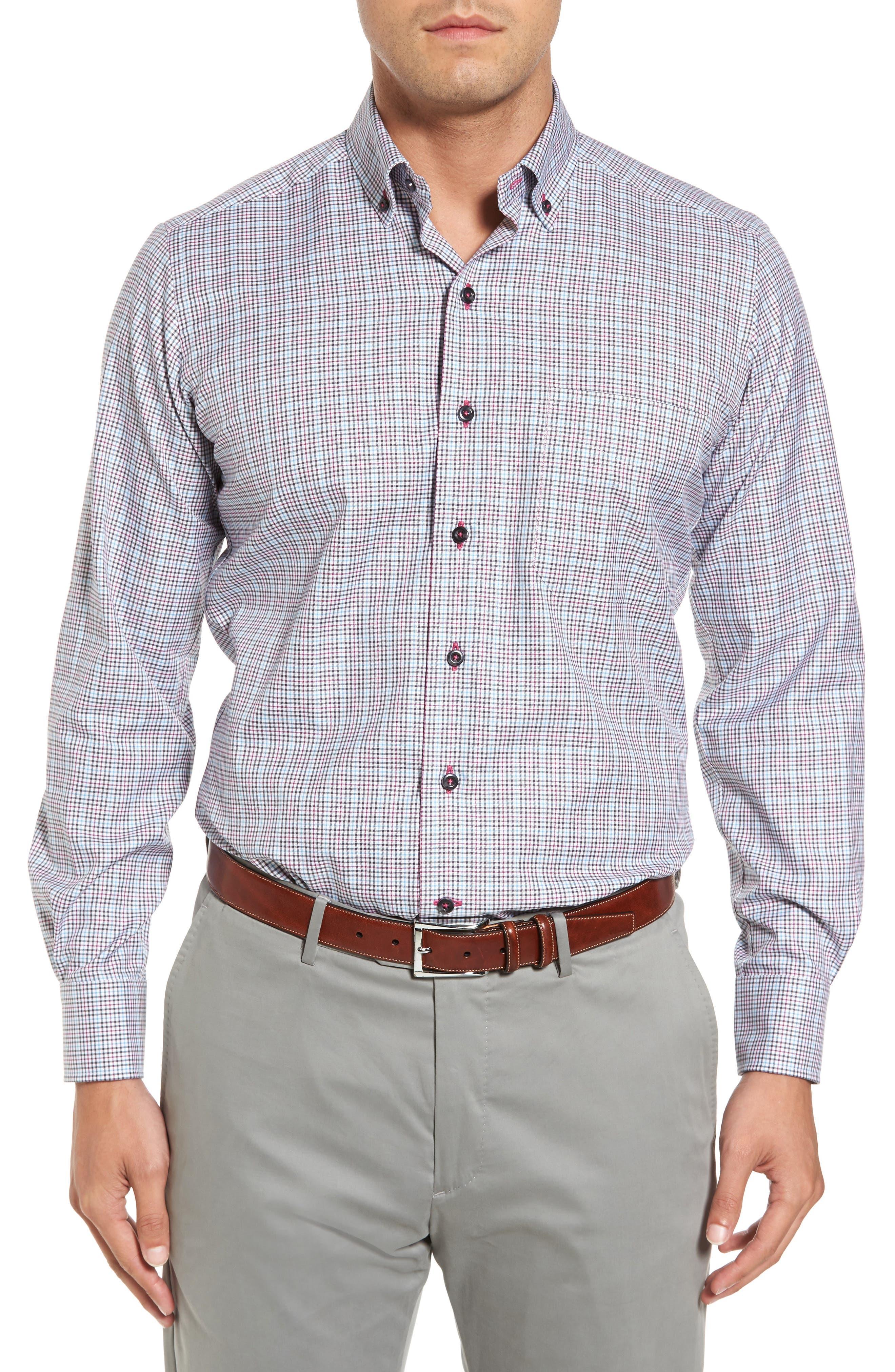 Regular Fit Plaid Sport Shirt,                         Main,                         color, 020