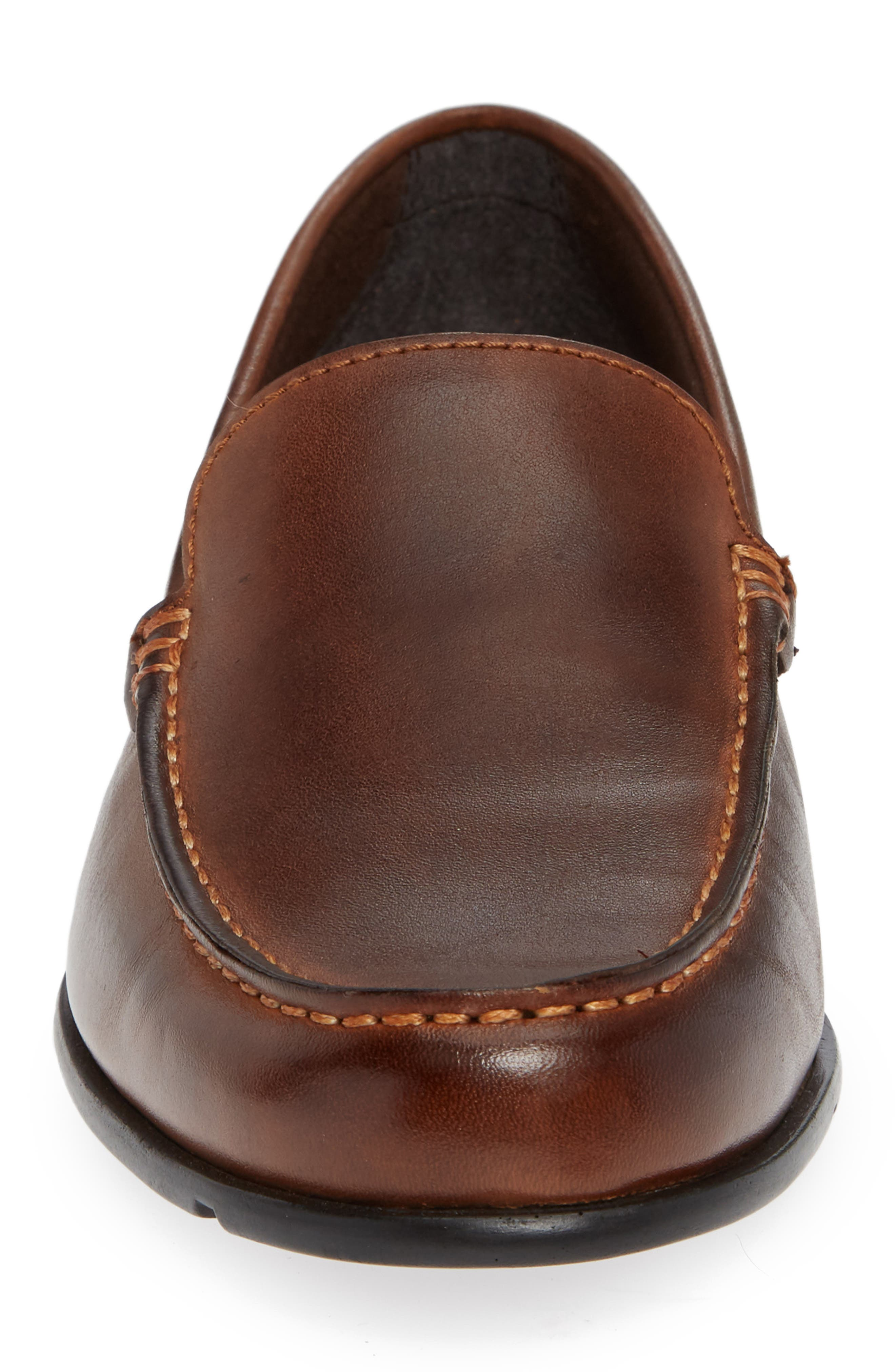 Classic Venetian Loafer,                             Alternate thumbnail 4, color,                             DARK BROWN LEATHER