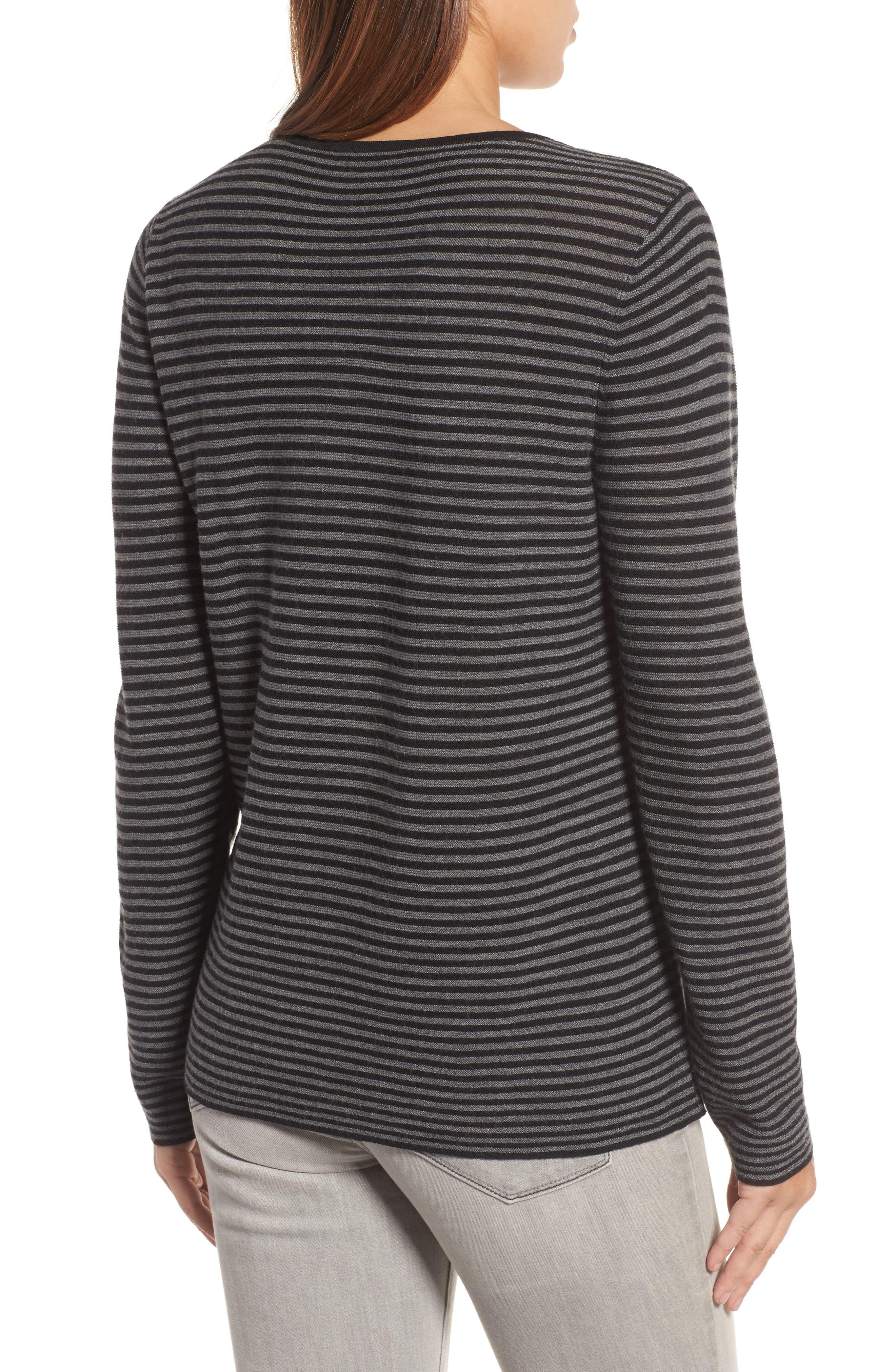 Stripe Merino Wool Sweater,                             Alternate thumbnail 2, color,                             028