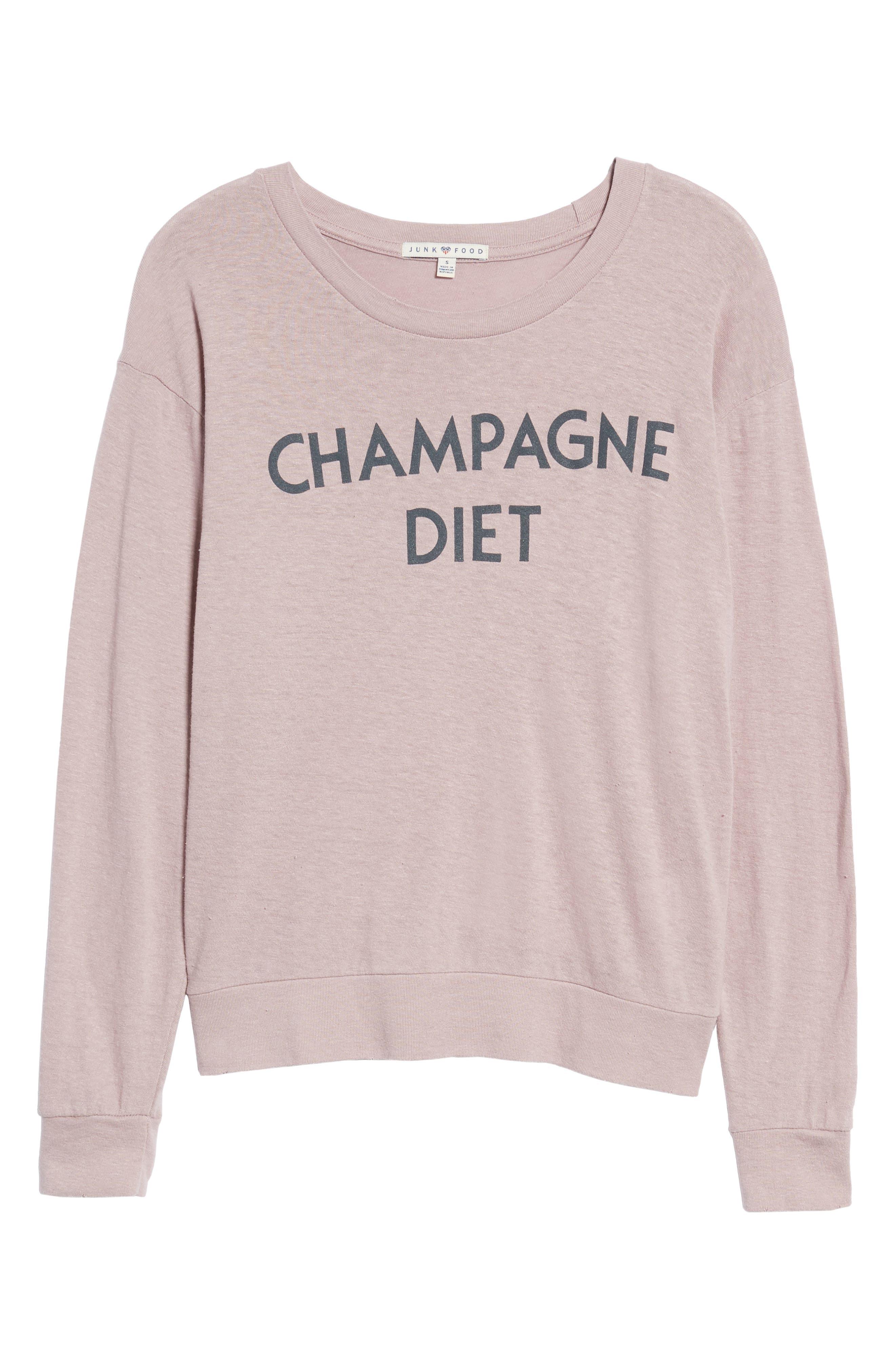 Champagne Diet Sweatshirt,                             Alternate thumbnail 6, color,                             650